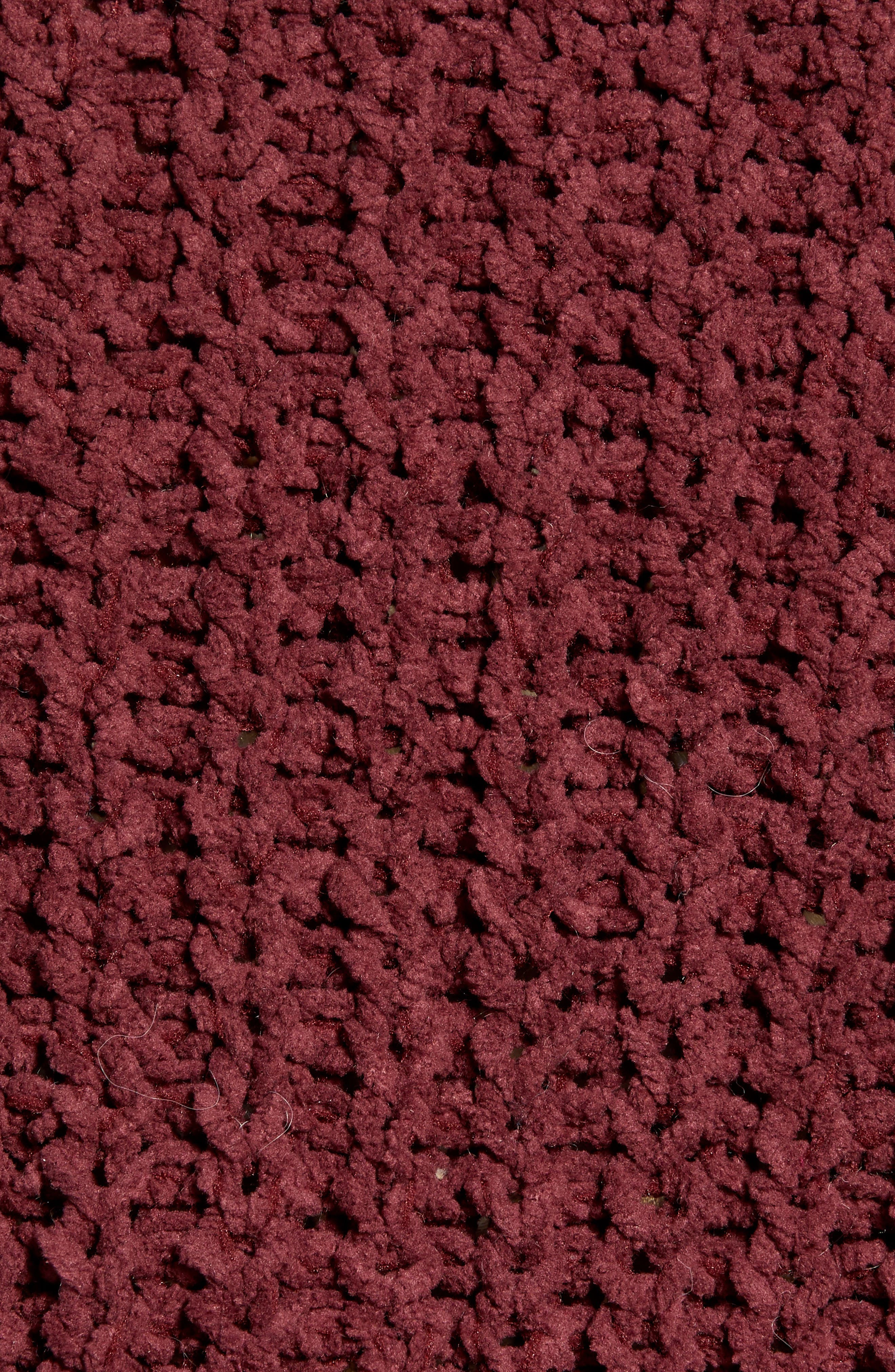 Chenille Sweater,                             Alternate thumbnail 5, color,                             RED RUMBA