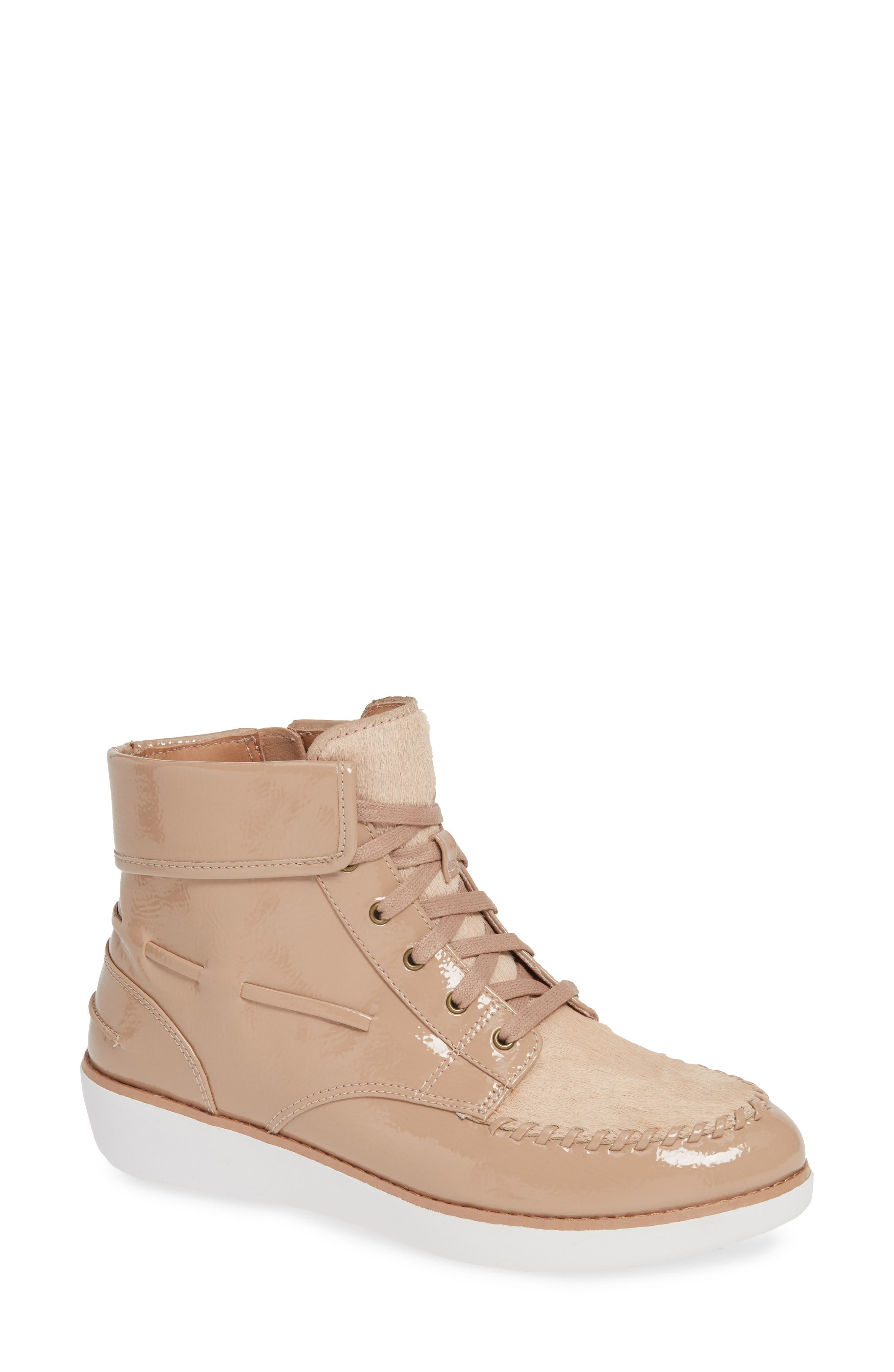 Fitflop Gianni Lace-Up Bootie, Beige