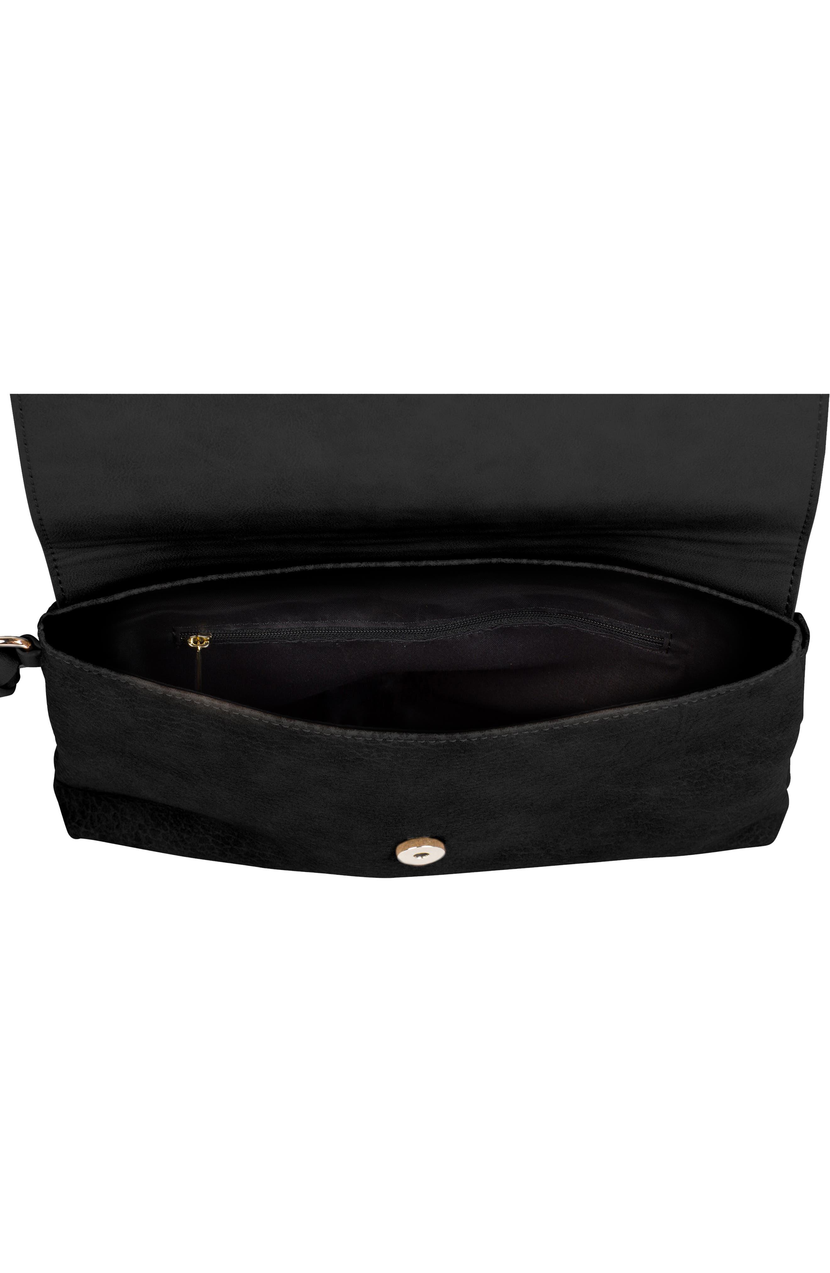 Custom Vegan Leather Wristlet Clutch,                             Alternate thumbnail 2, color,                             BLACK