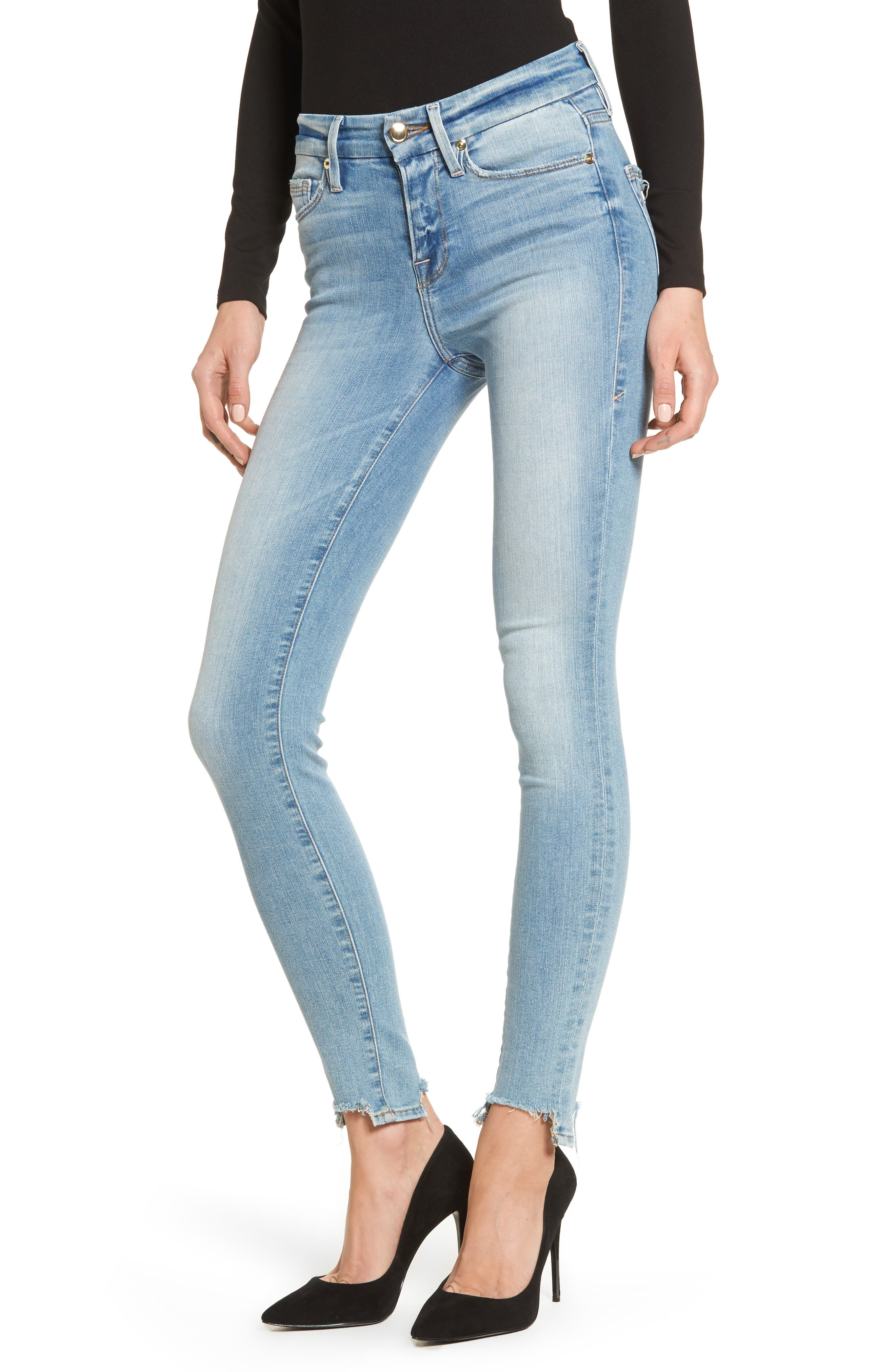 Good Legs High Waist Ankle Skinny Jeans,                             Main thumbnail 1, color,