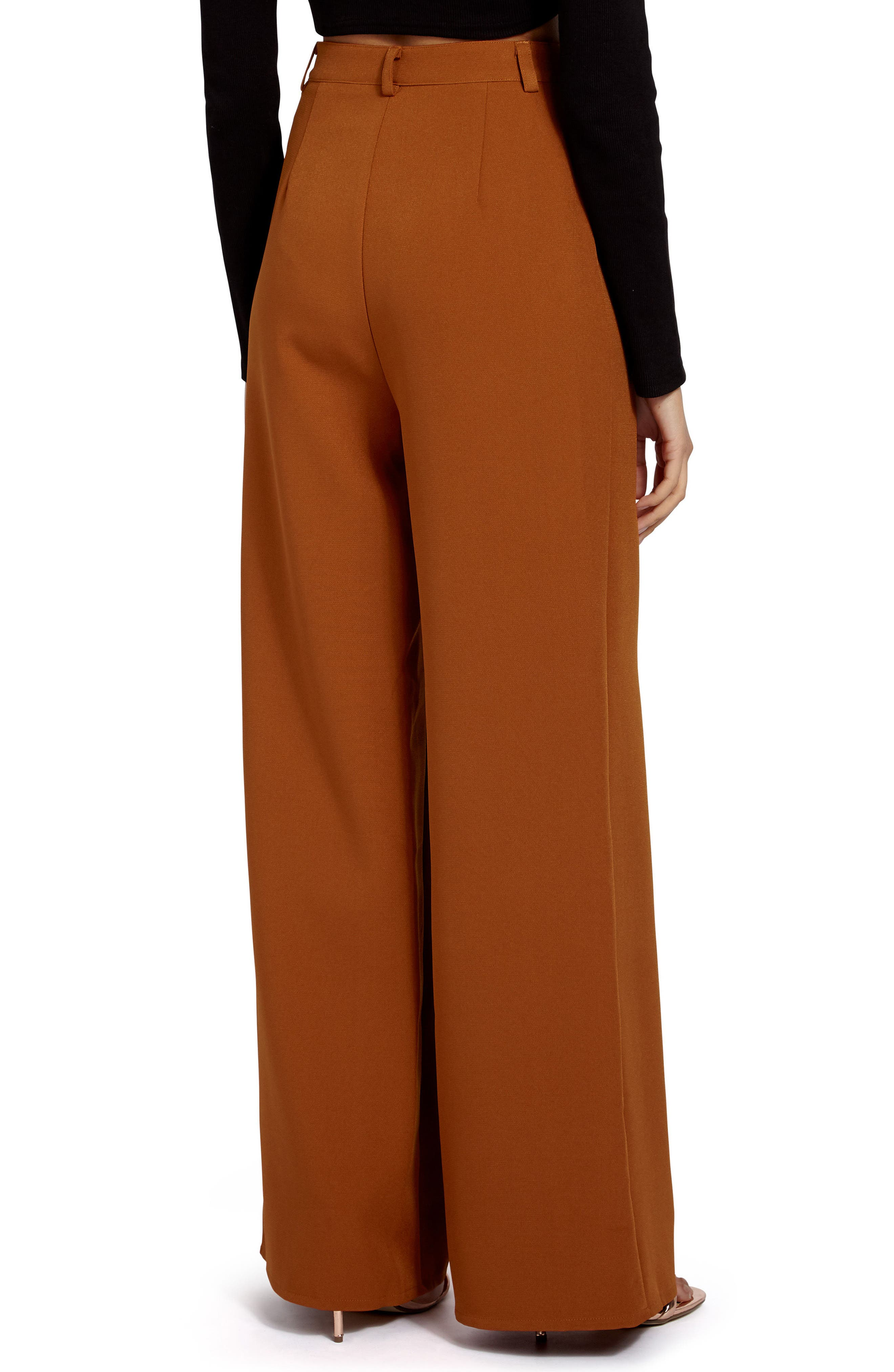 Crepe Wide Leg Trousers,                             Alternate thumbnail 2, color,                             200
