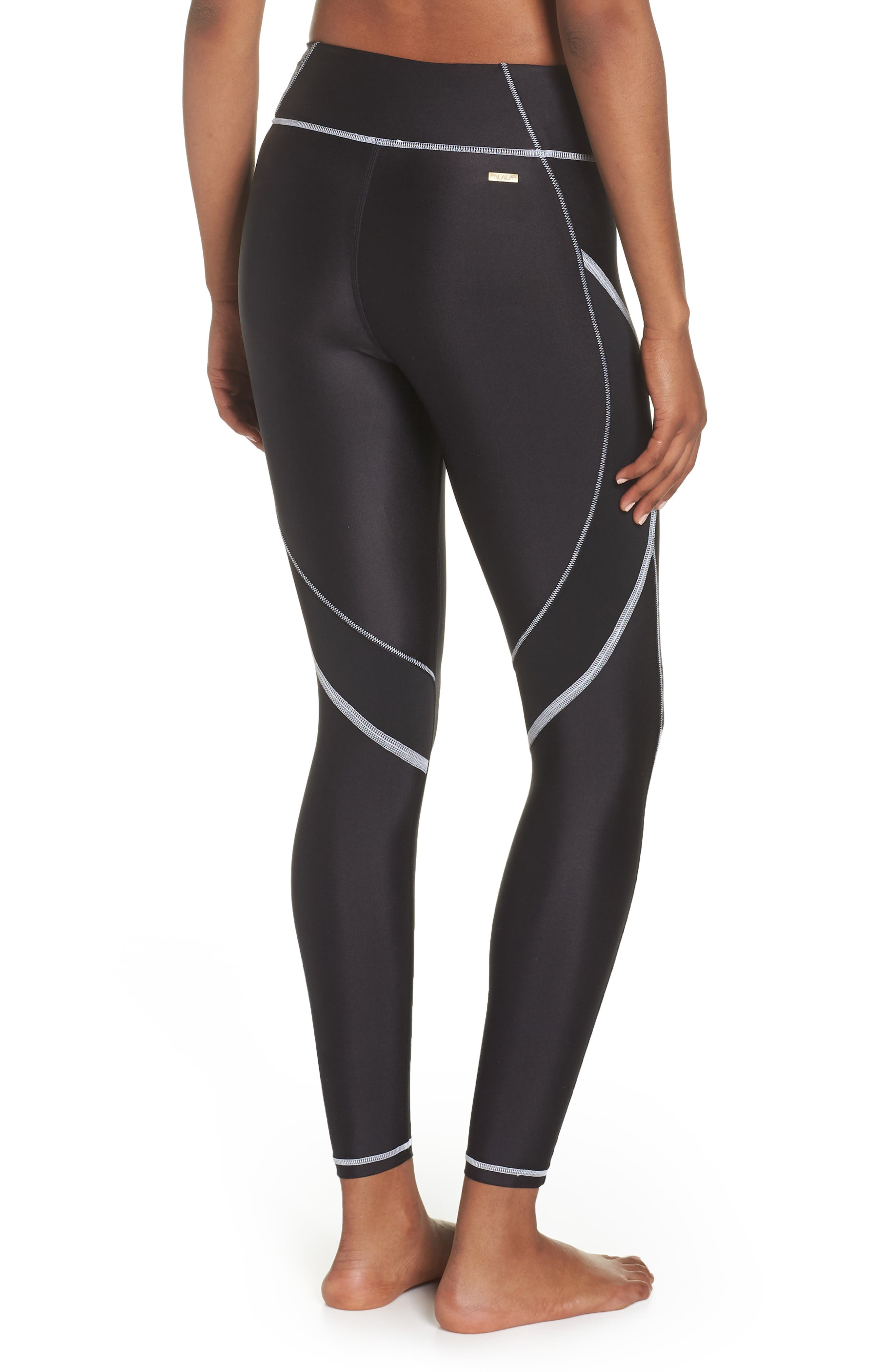 Surf Tights,                             Alternate thumbnail 2, color,                             BLACK/ WHITE