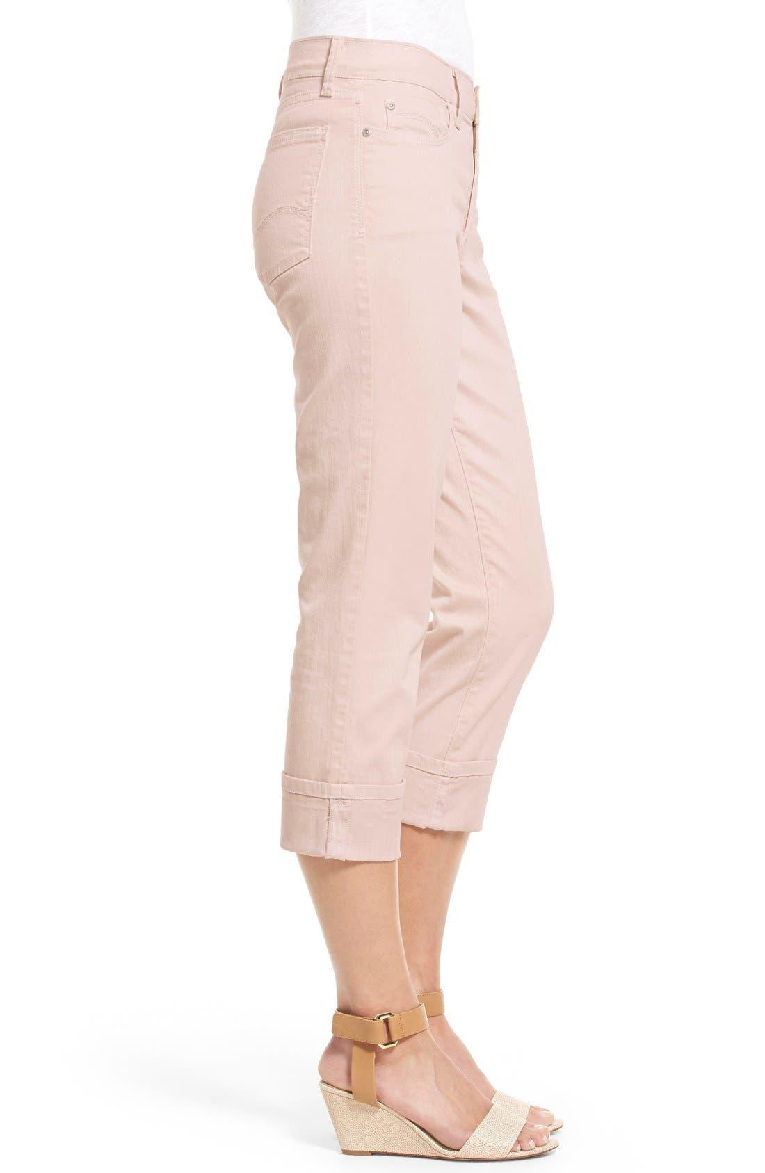 'Dayla' Colored Wide Cuff Capri Jeans,                             Alternate thumbnail 42, color,