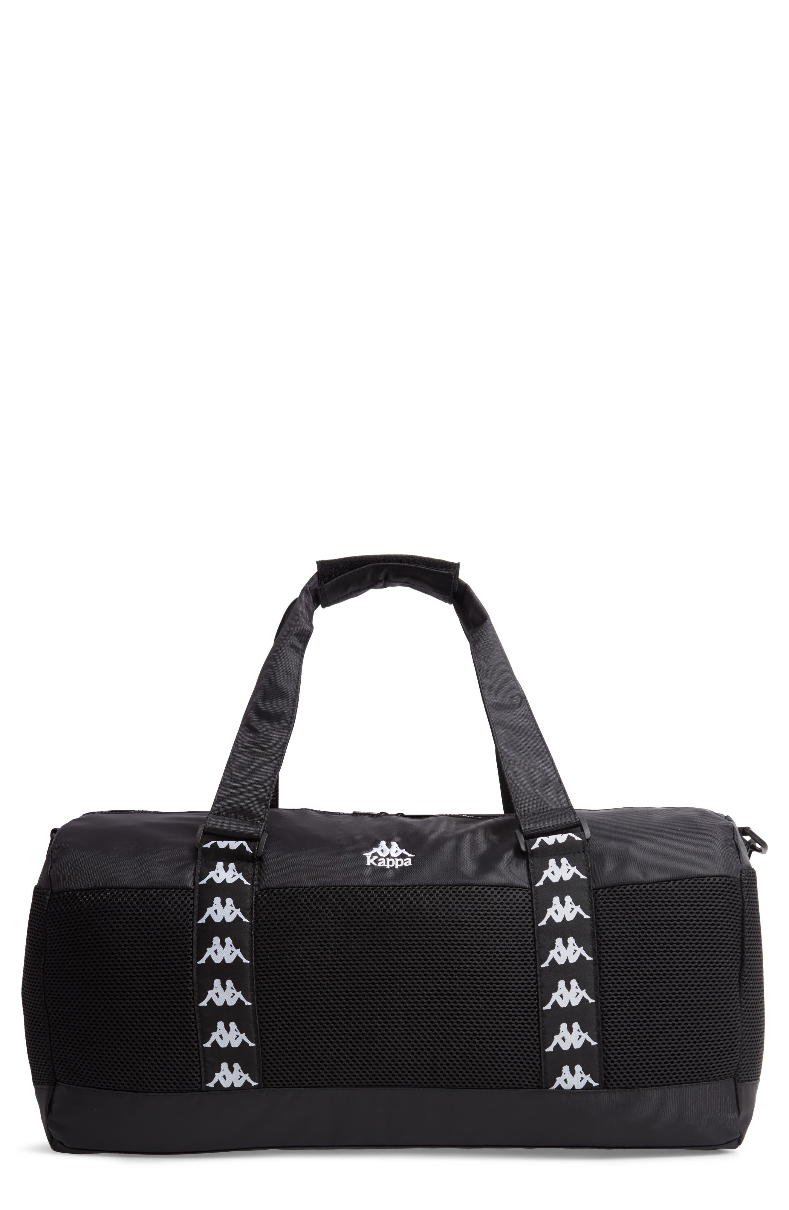 XL Athletic Duffel Bag,                             Main thumbnail 1, color,                             BLACK-WHITE