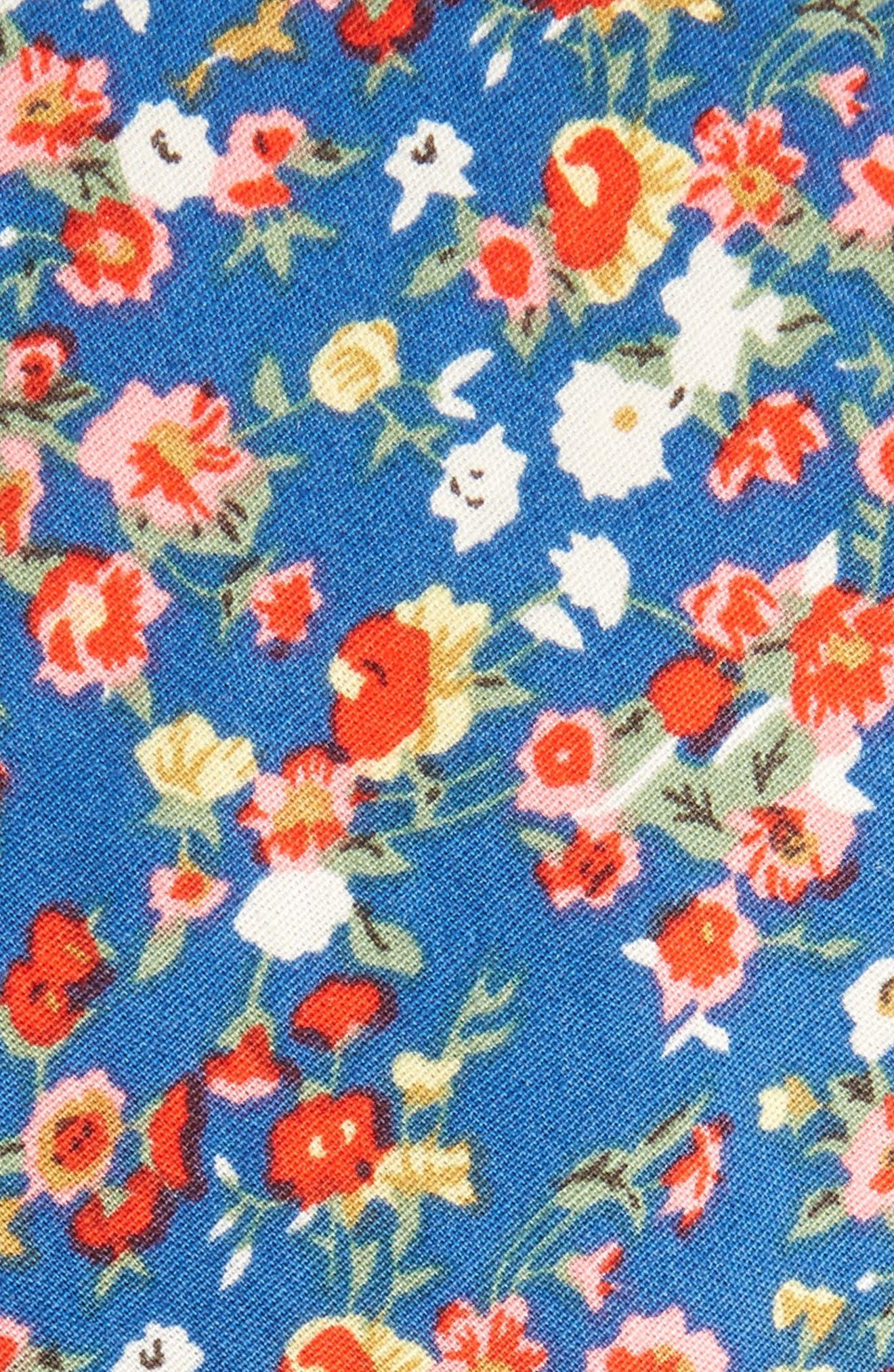 Brayfield Floral Cotton Skinny Tie,                             Alternate thumbnail 2, color,
