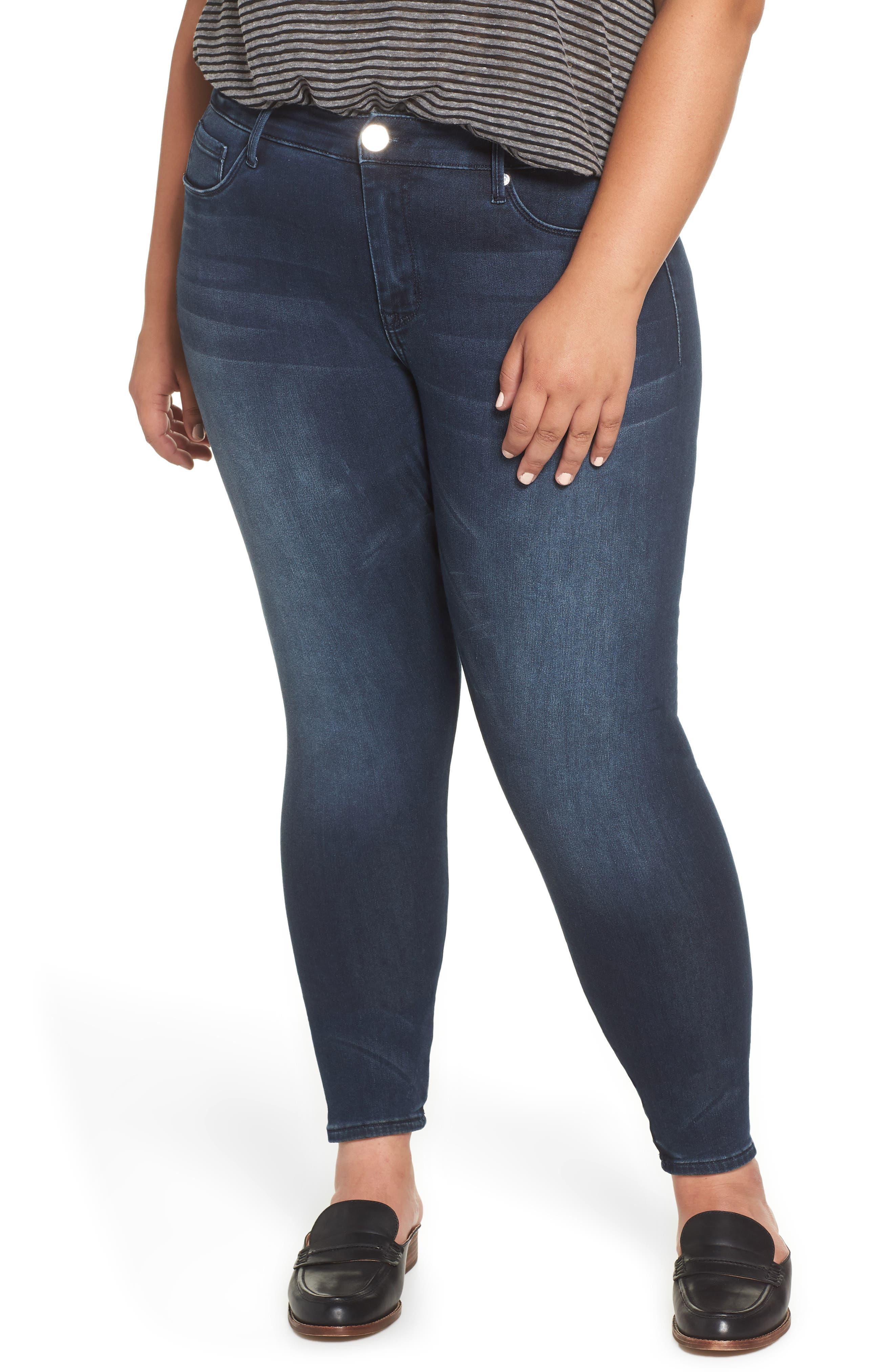 Seamless Denim Leggings,                         Main,                         color, ELISE
