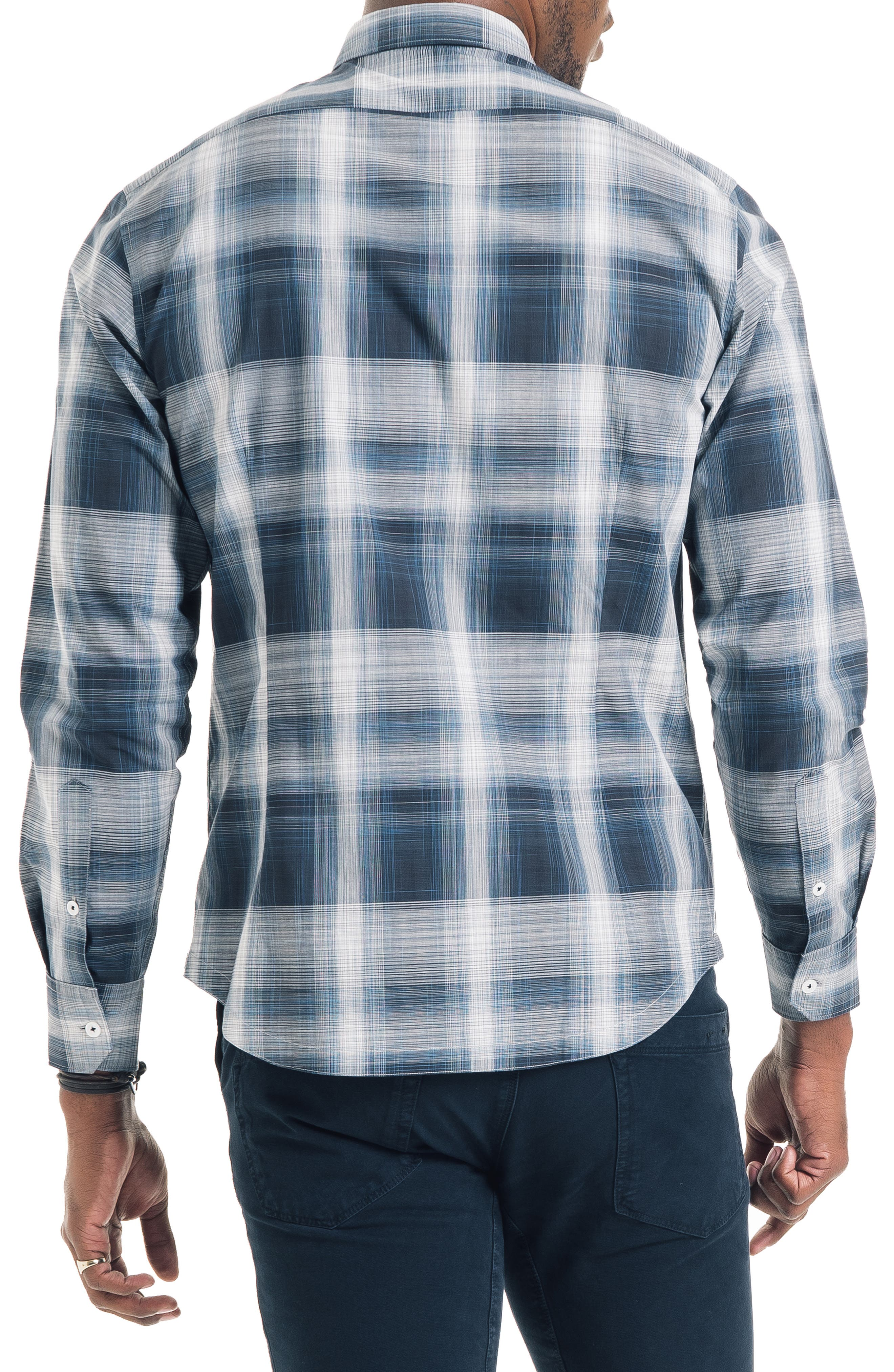 Bonsai Slim Fit Sport Shirt,                             Alternate thumbnail 2, color,                             NAVY