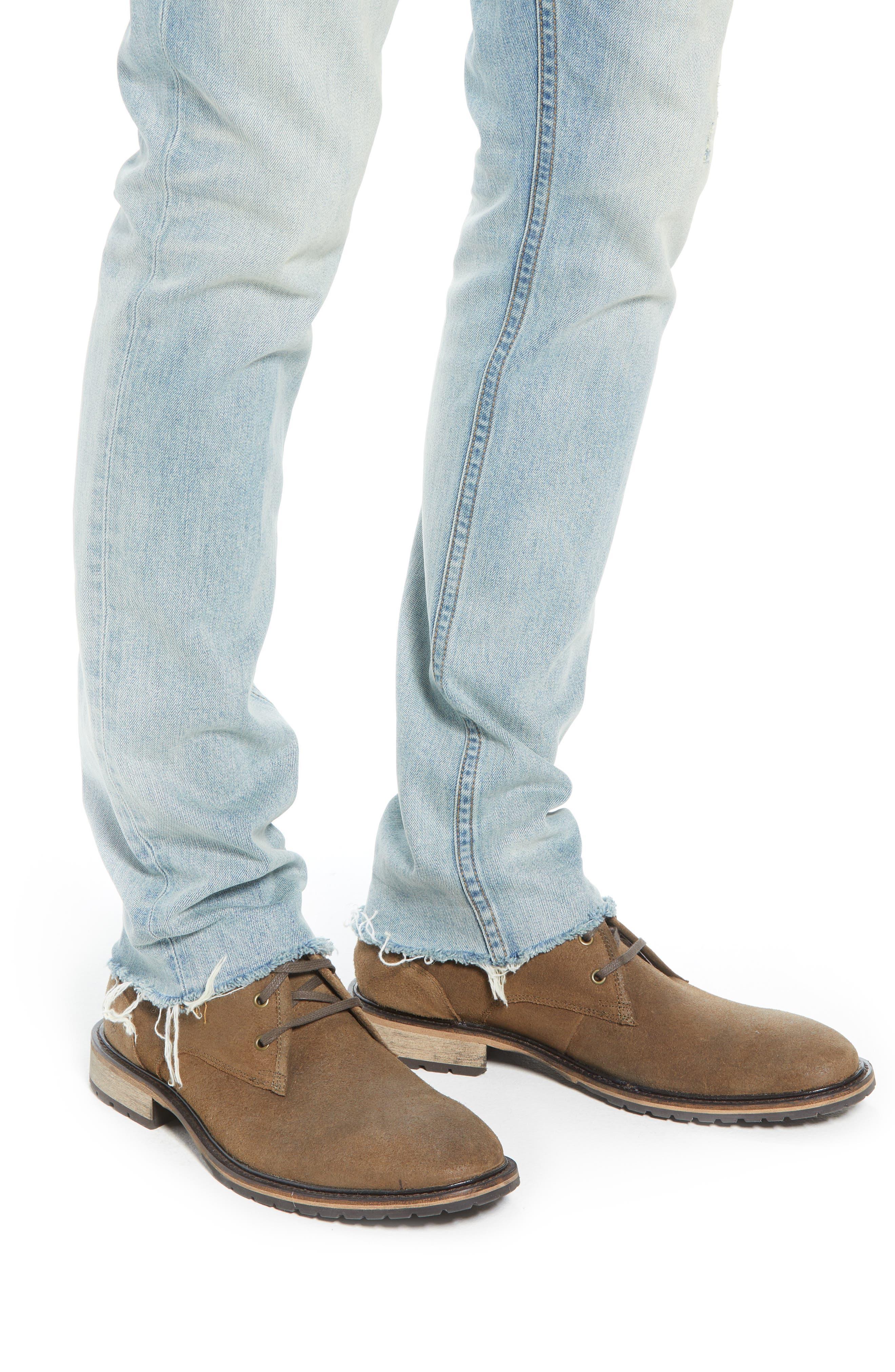Slim Fit Jeans,                             Alternate thumbnail 4, color,                             BLUE FADED LIGHT WASH