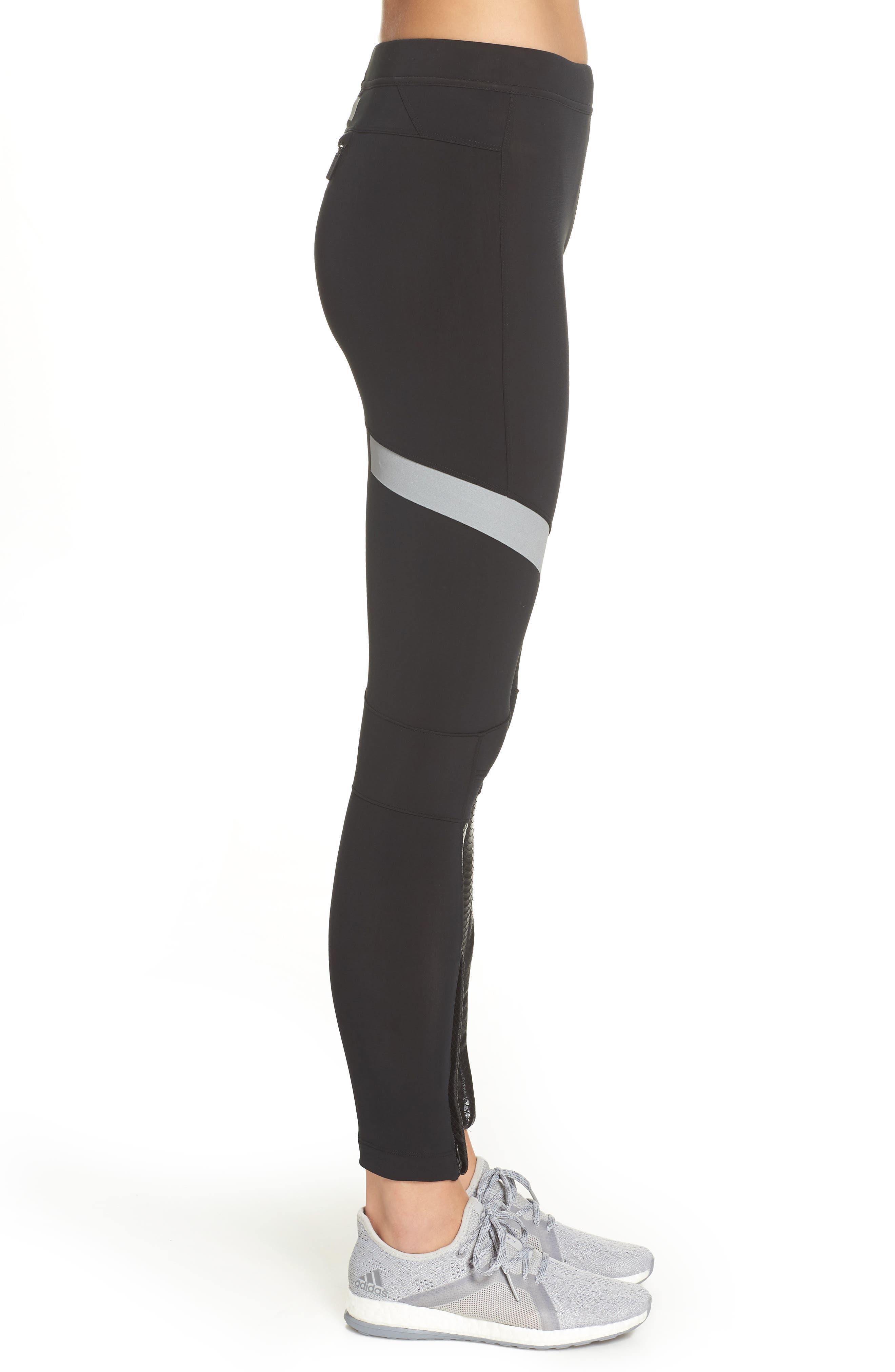 Run Climaheat Leggings,                             Alternate thumbnail 3, color,                             BLACK
