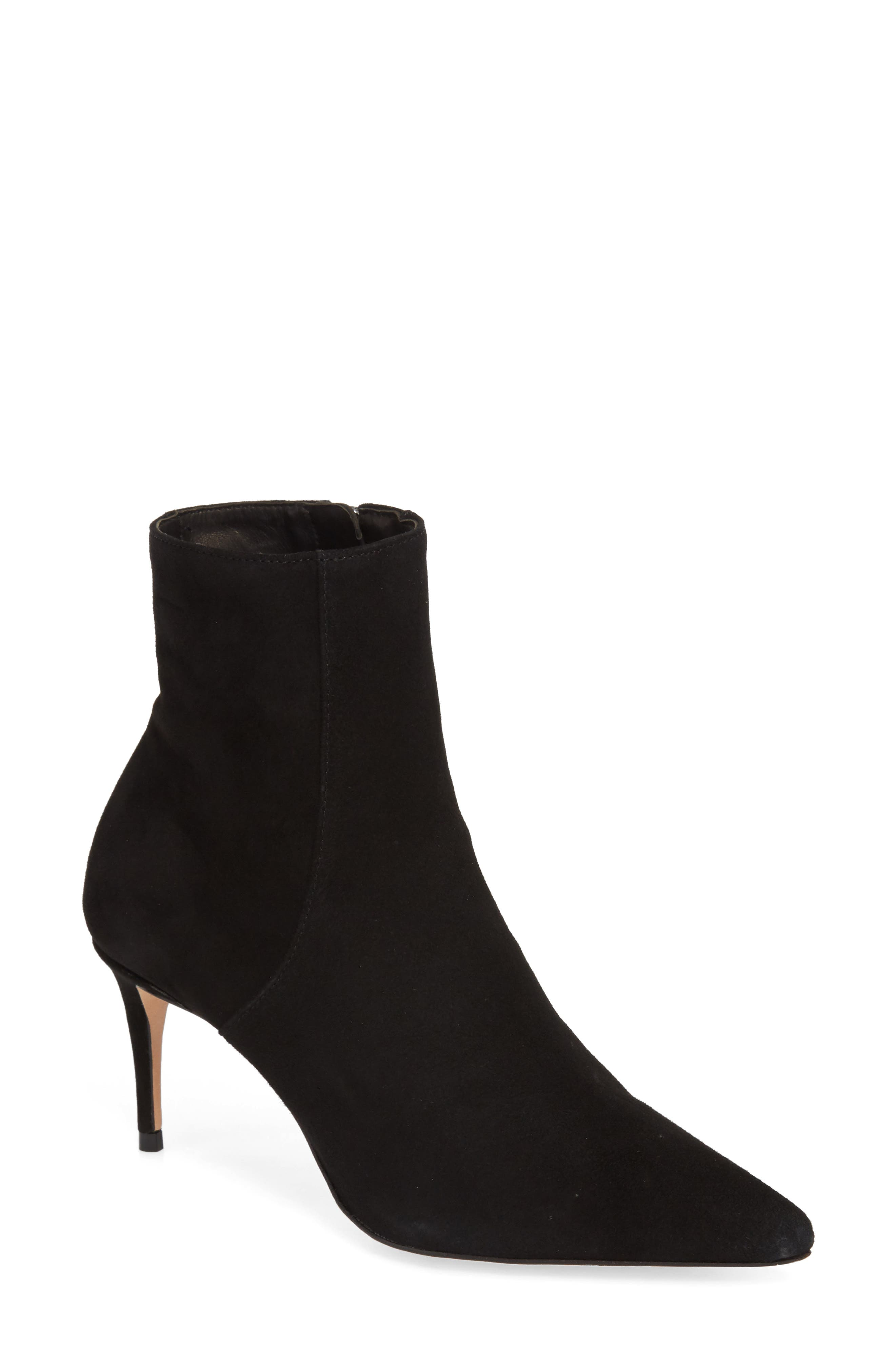 Bette Bootie,                             Main thumbnail 1, color,                             BLACK SUEDE
