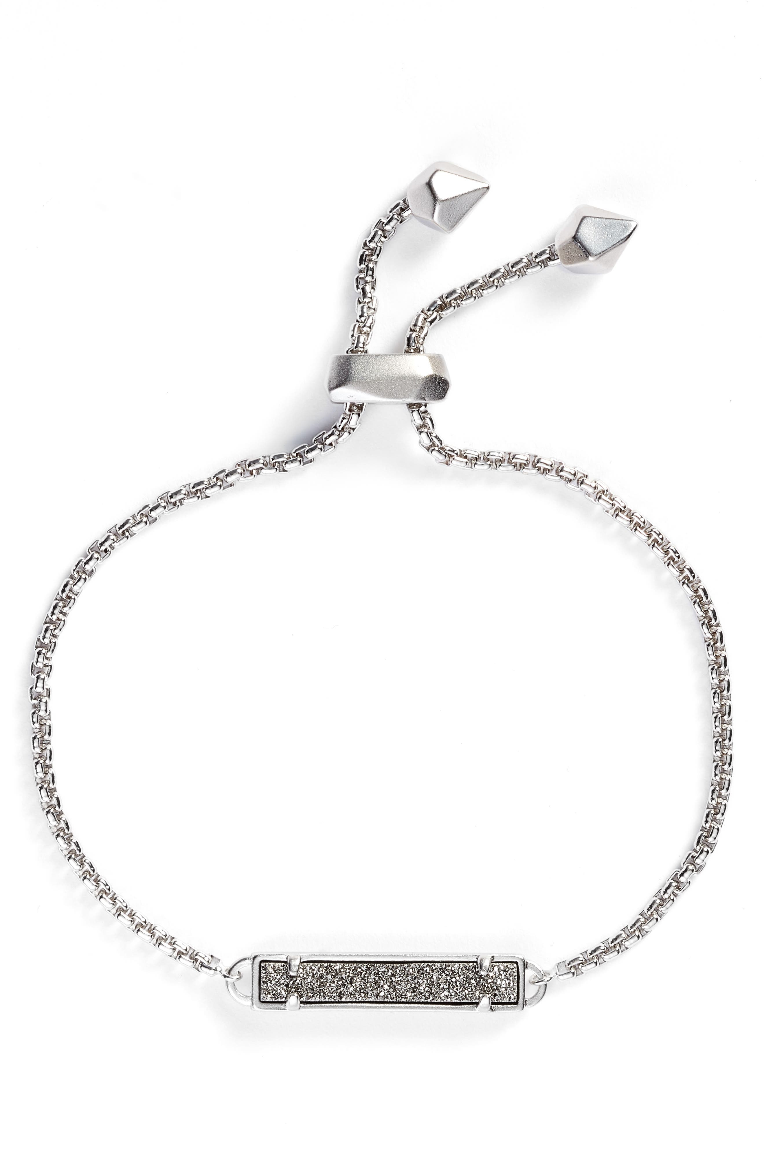 Stan Bracelet,                             Main thumbnail 1, color,                             PLATINUM DRUSY/ SILVER