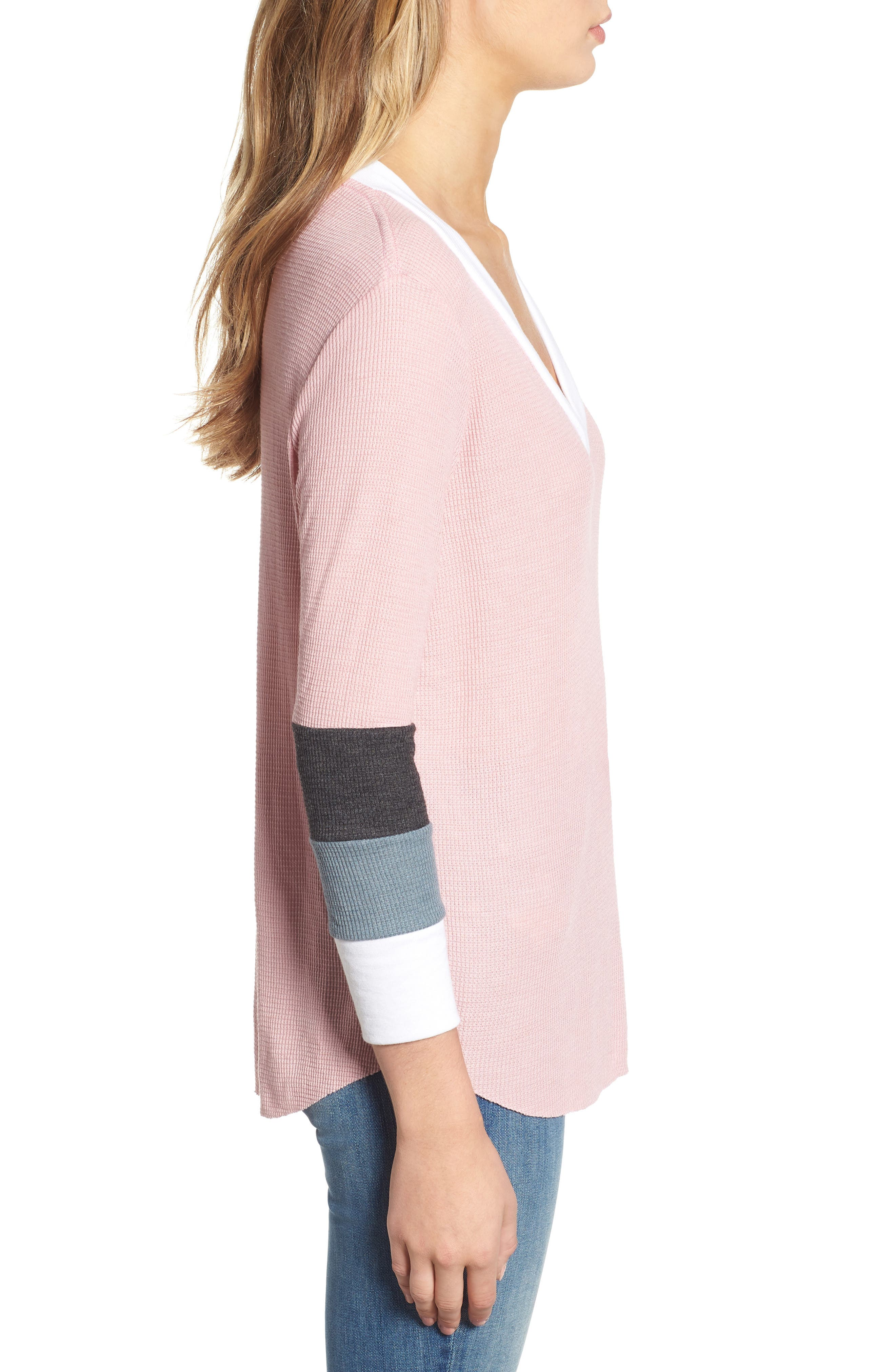 Leroy Colorblock Thermal Tee,                             Alternate thumbnail 3, color,