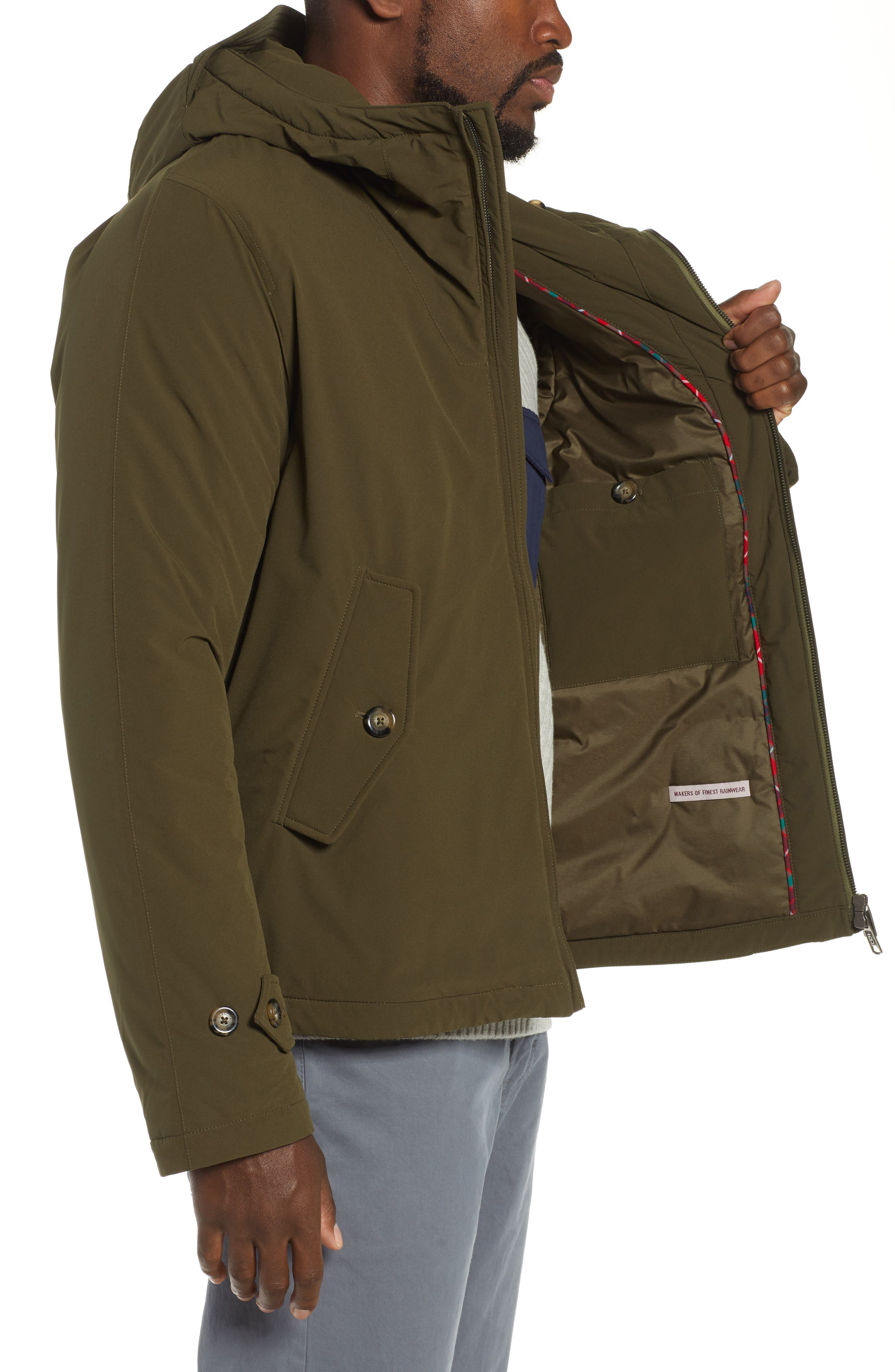 Hardy Stretch Water Repellent Anorak,                             Alternate thumbnail 3, color,                             BEECH
