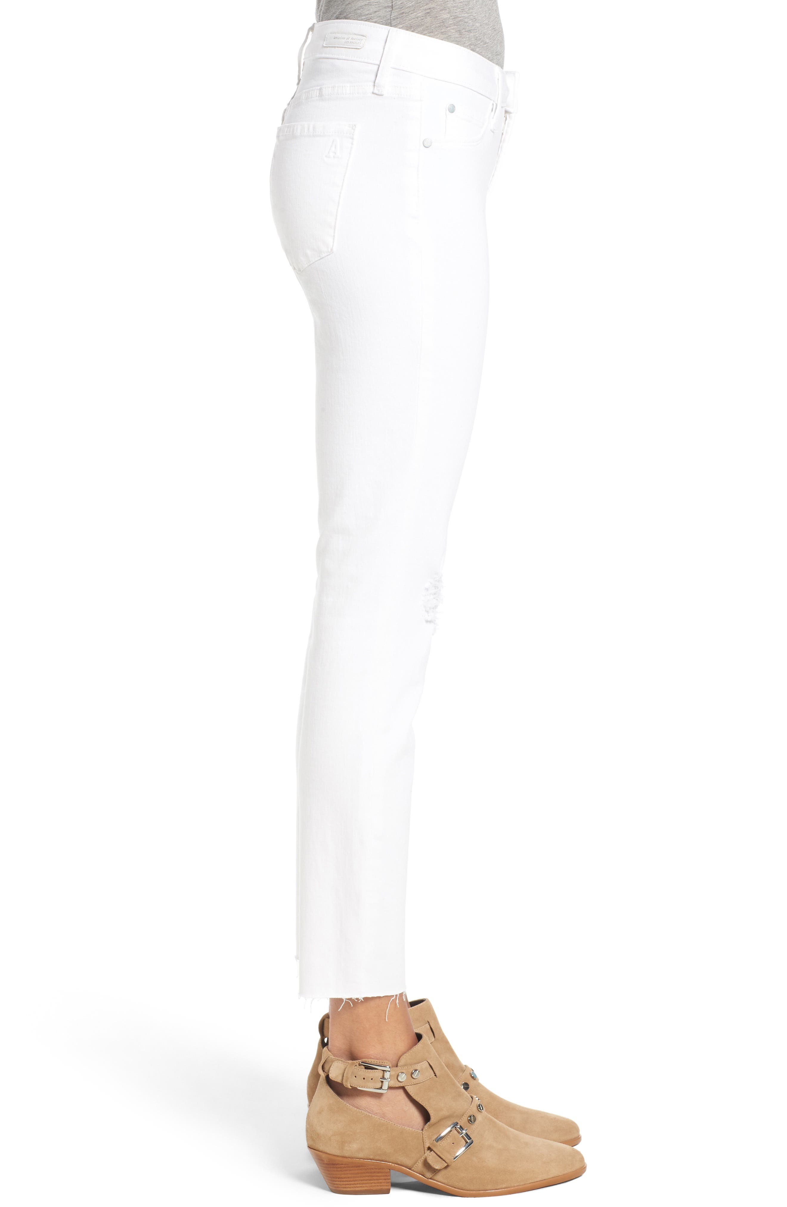 Carly Skinny Crop Jeans,                             Alternate thumbnail 3, color,                             110
