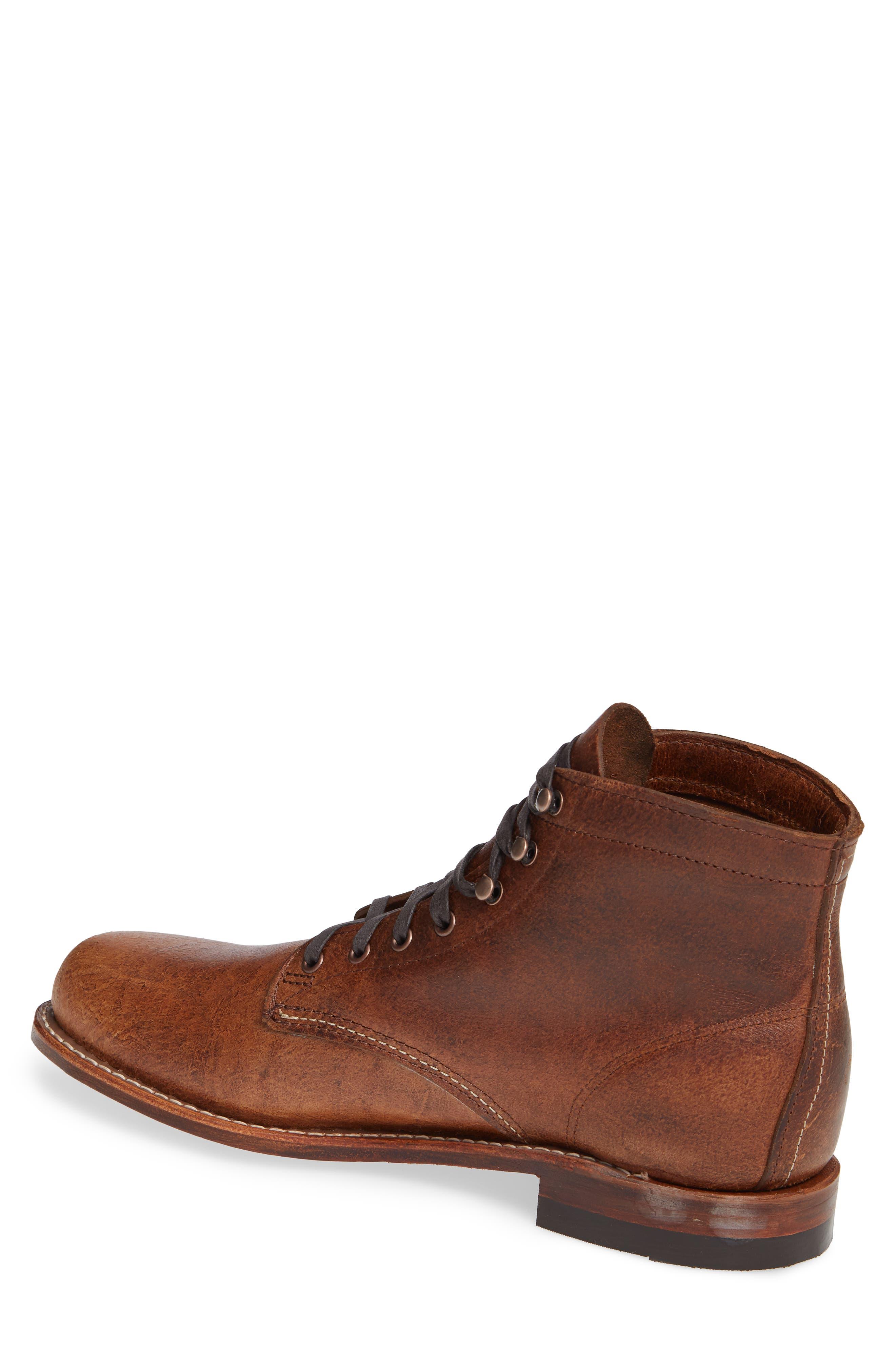 '1000 Mile' Plain Toe Boot,                             Alternate thumbnail 2, color,                             COGNAC