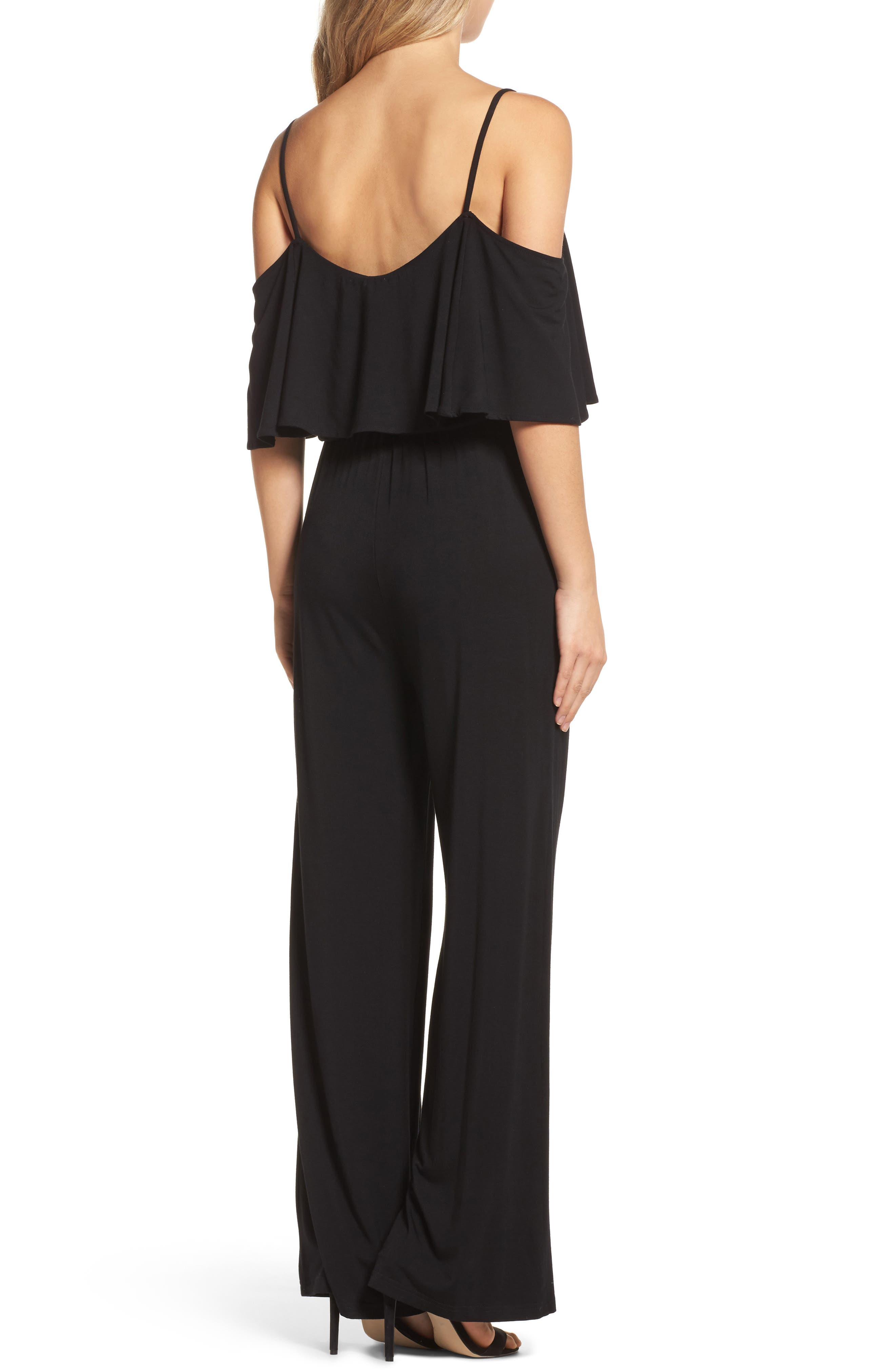 Claudette Cold-Shoulder Jumpsuit,                             Alternate thumbnail 2, color,                             001