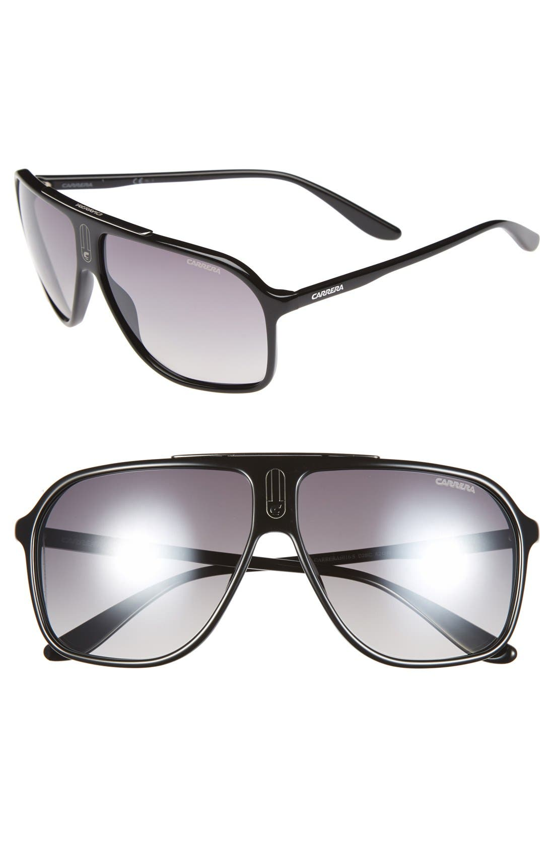 62mm Sunglasses,                         Main,                         color, 001