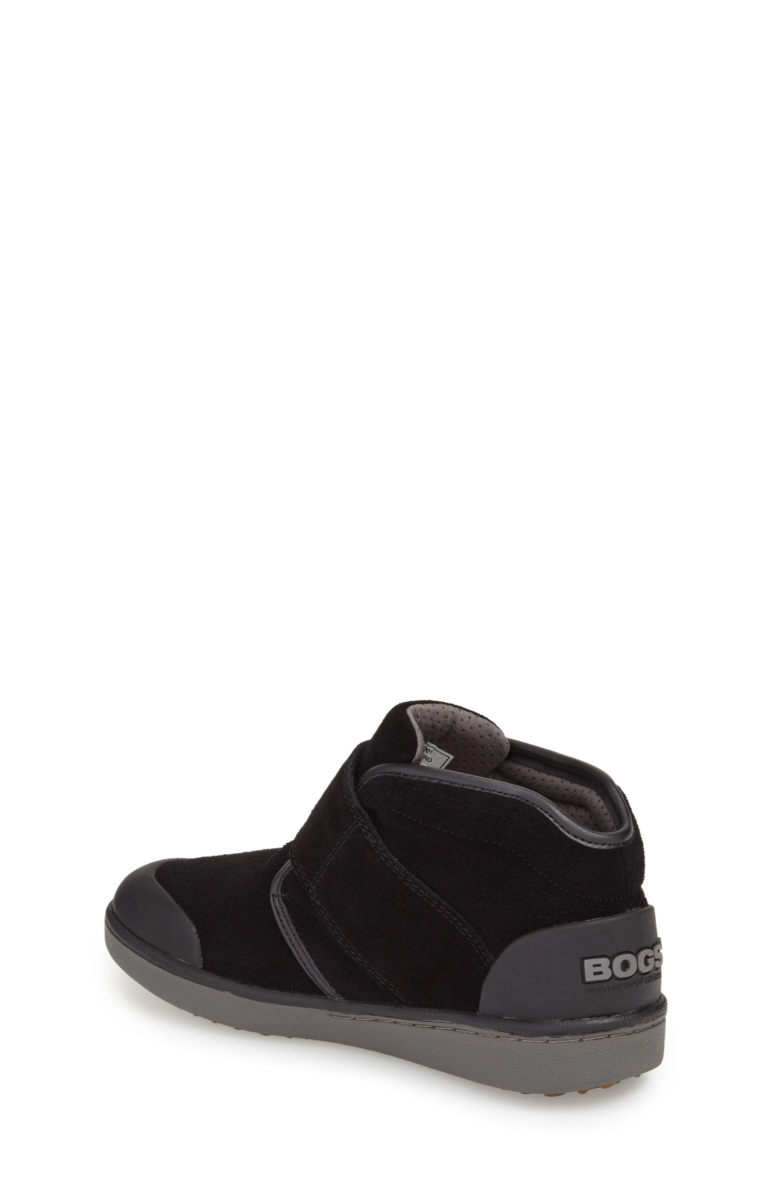 'Sammy' Waterproof Sneaker,                             Alternate thumbnail 2, color,                             BLACK/ BLACK