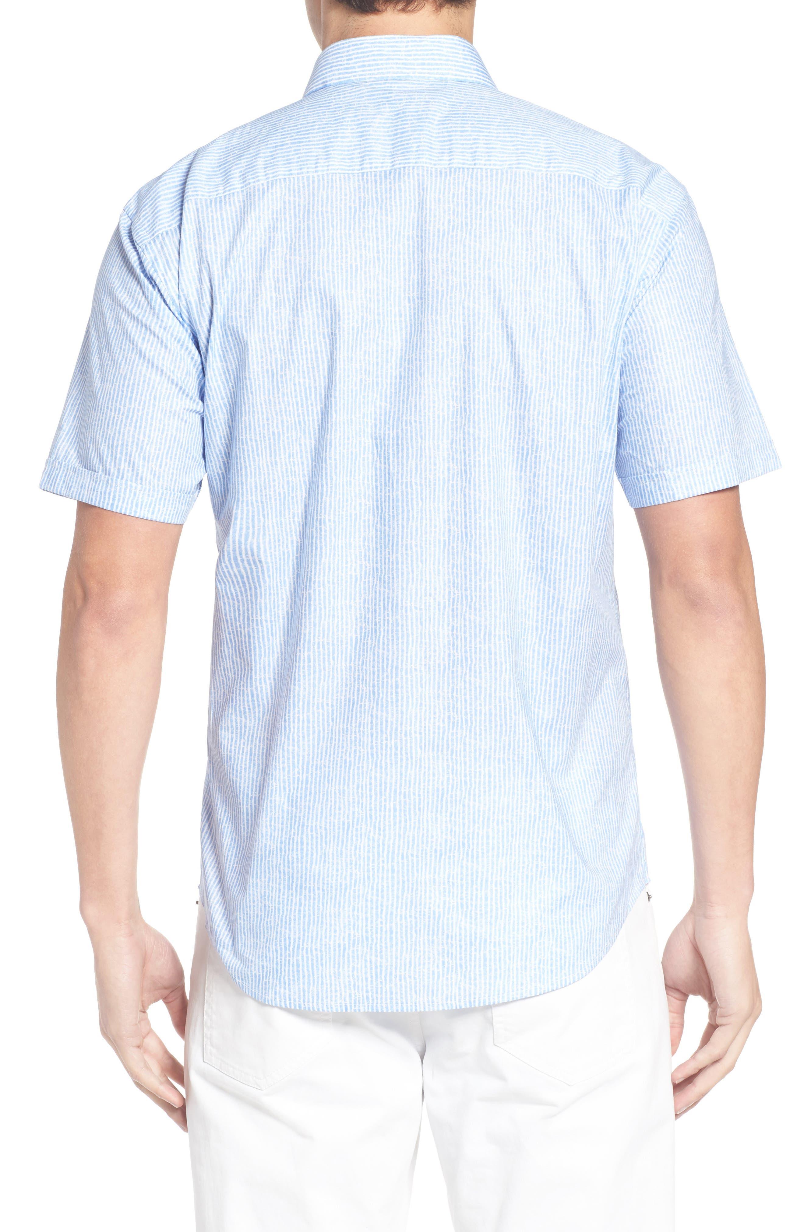 Shaped Fit Stripe Sport Shirt,                             Alternate thumbnail 15, color,