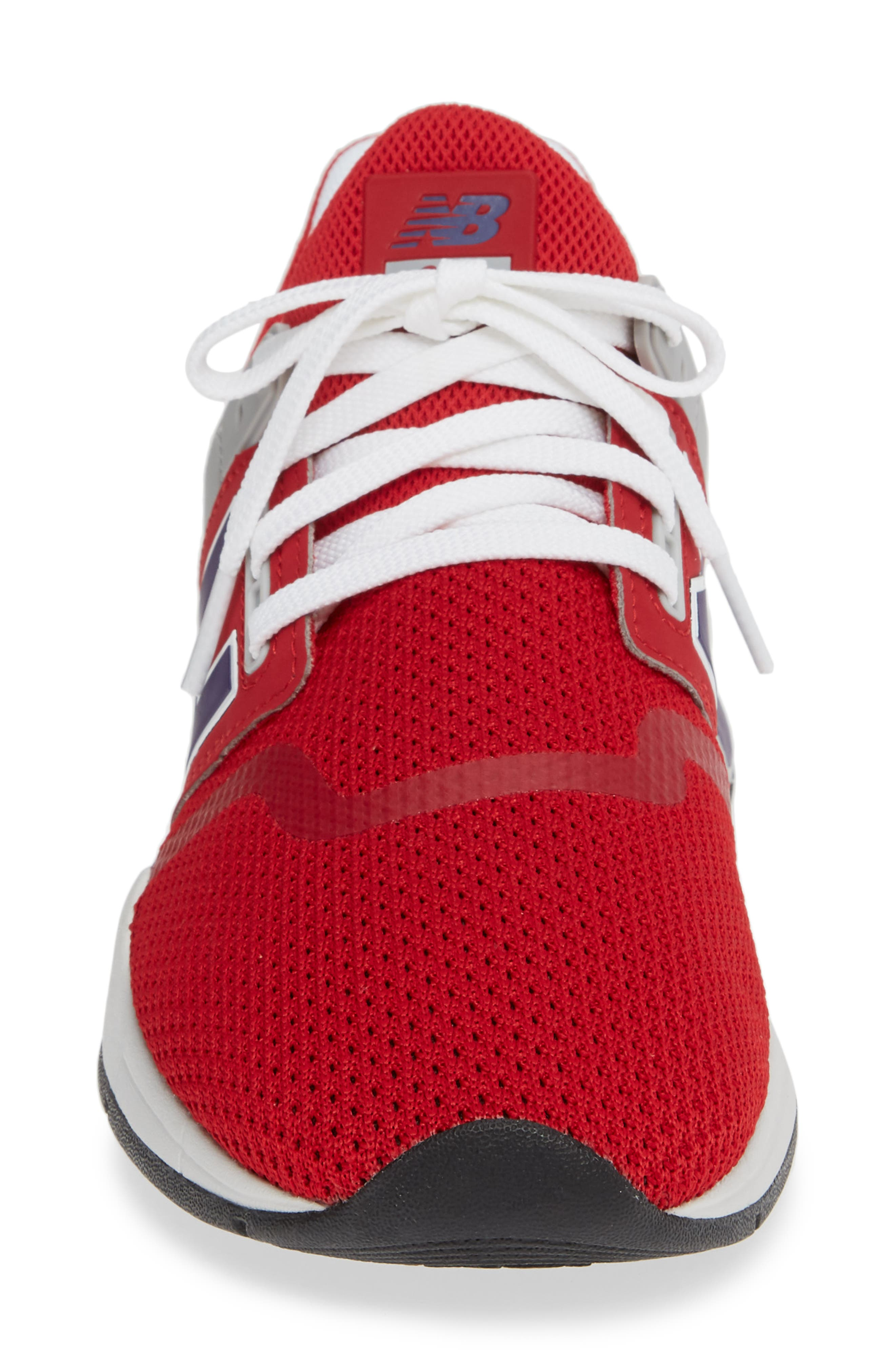 247 Sneaker,                             Alternate thumbnail 4, color,                             TANGO RED SYNTHETIC/ MESH
