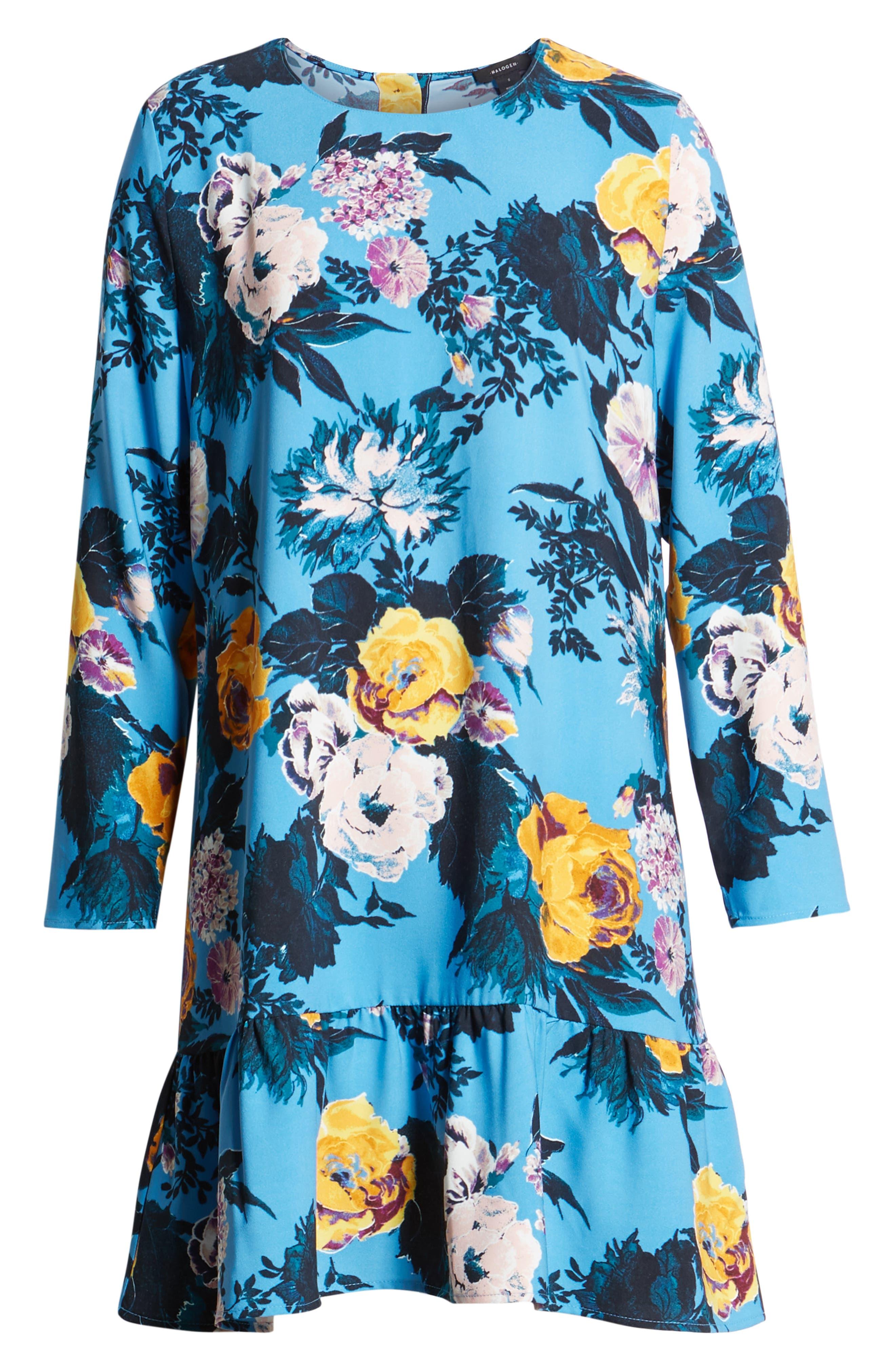 Button Back Ruffle Hem Dress,                             Alternate thumbnail 55, color,