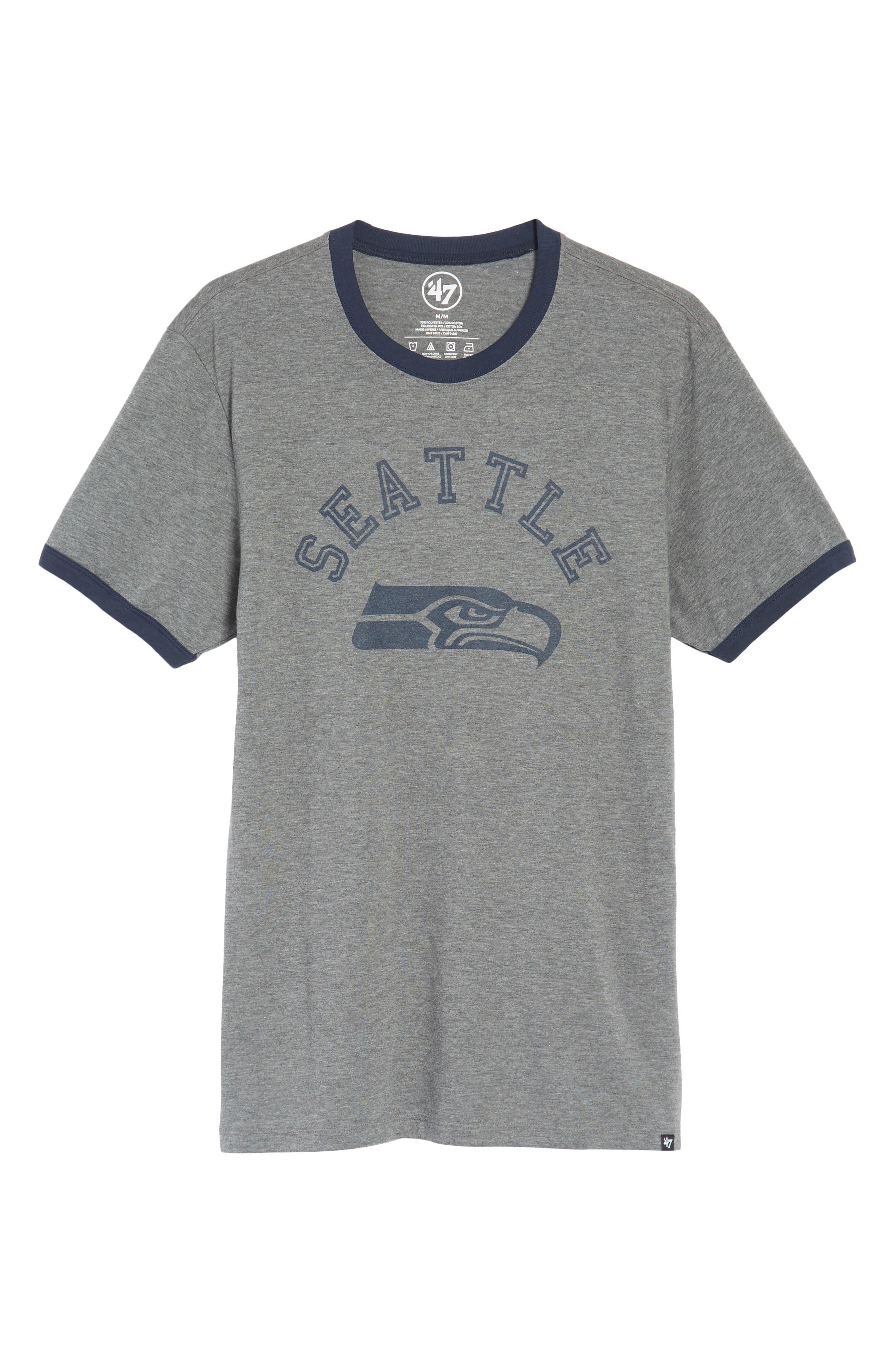 Seattle Seahawks Ringer T-Shirt,                             Alternate thumbnail 6, color,                             020