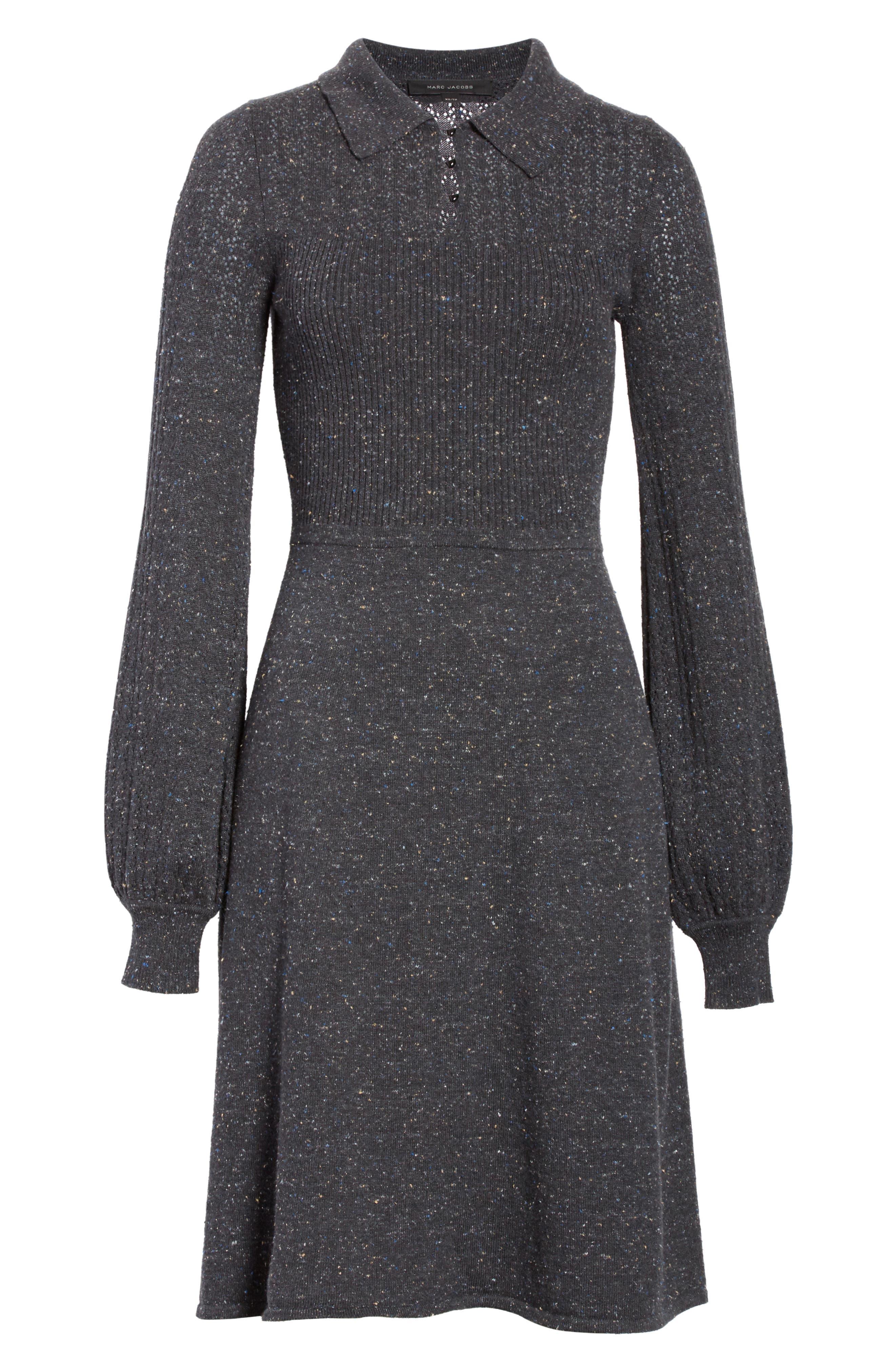 Knit Sweater Dress,                             Alternate thumbnail 6, color,                             021