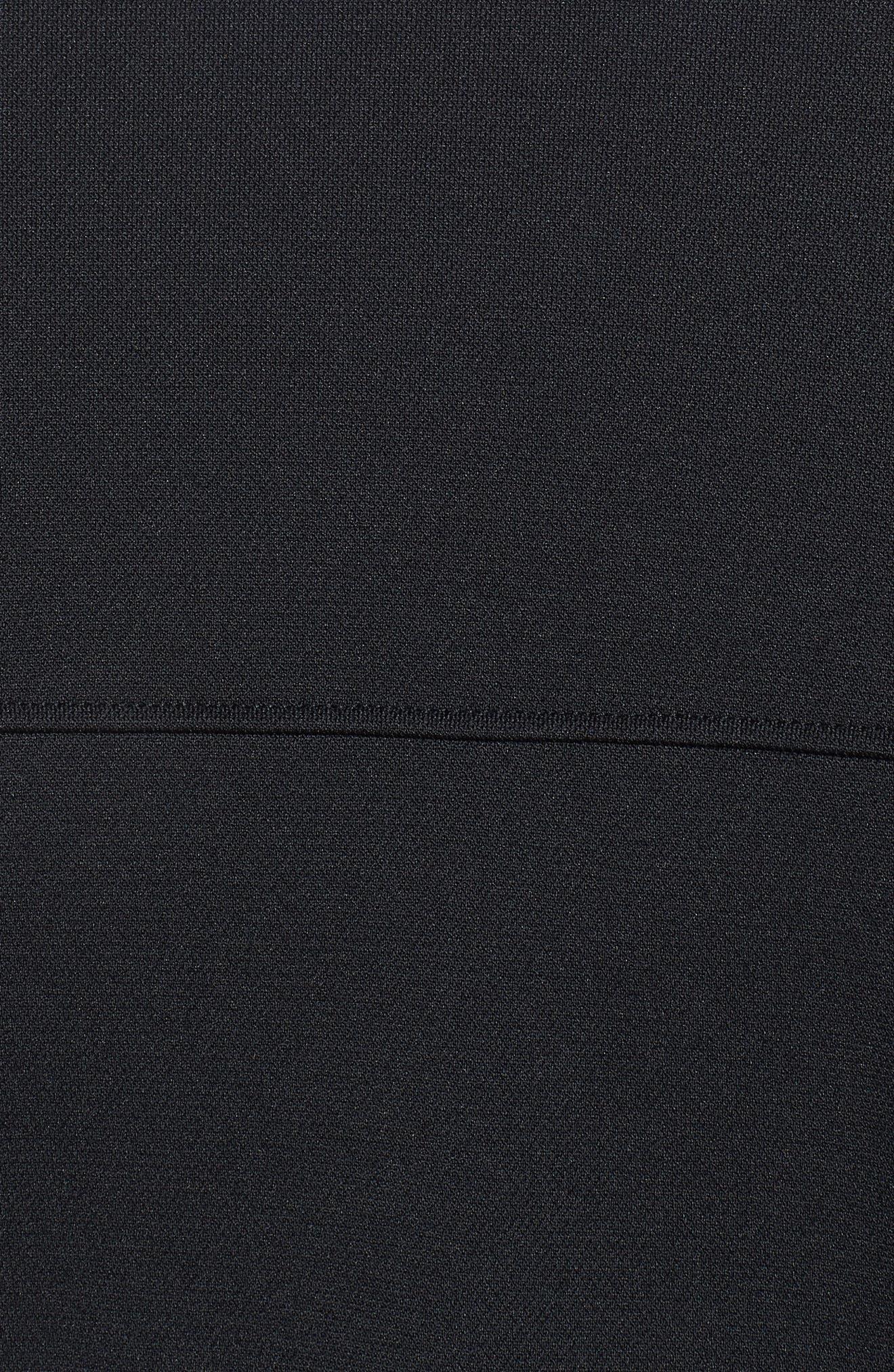 Sportstyle Piqué Track Jacket,                             Alternate thumbnail 7, color,                             BLACK / / BLACK