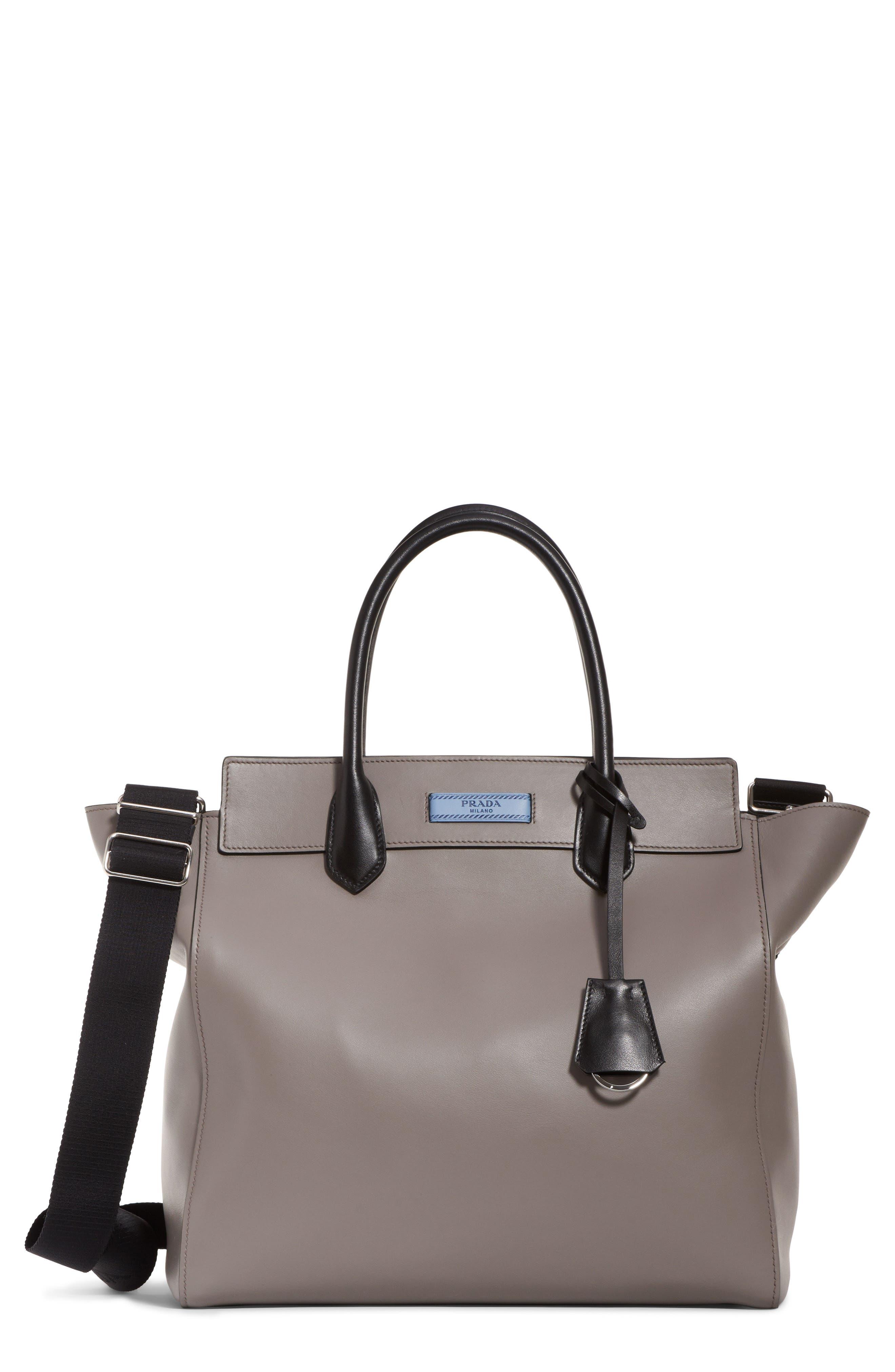 Etiquette Leather Shoulder Bag, Main, color, 250