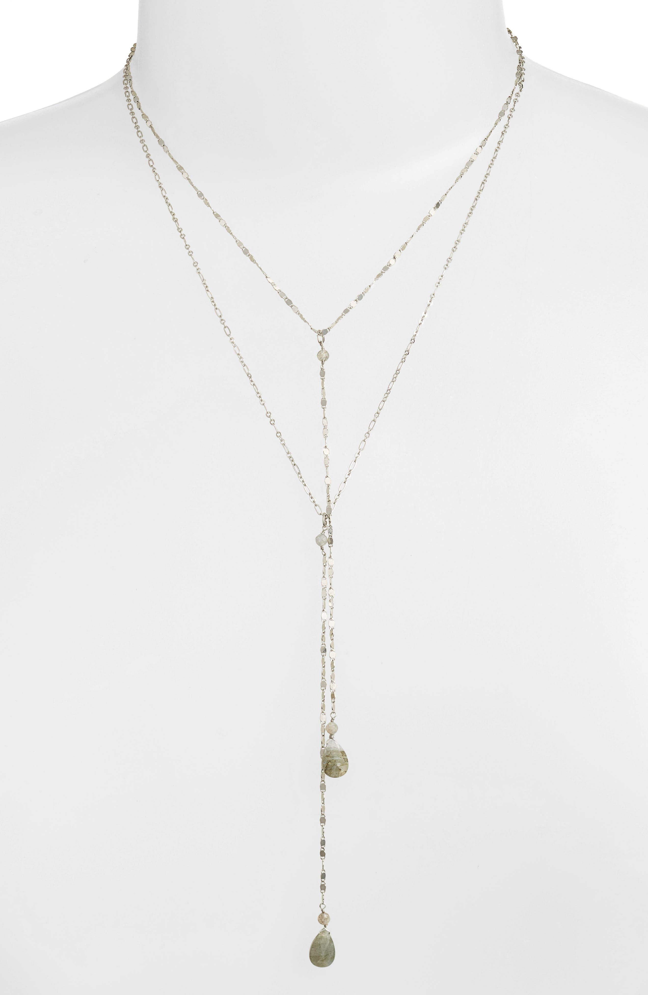 Labradorite Y-Necklace,                             Alternate thumbnail 2, color,                             040