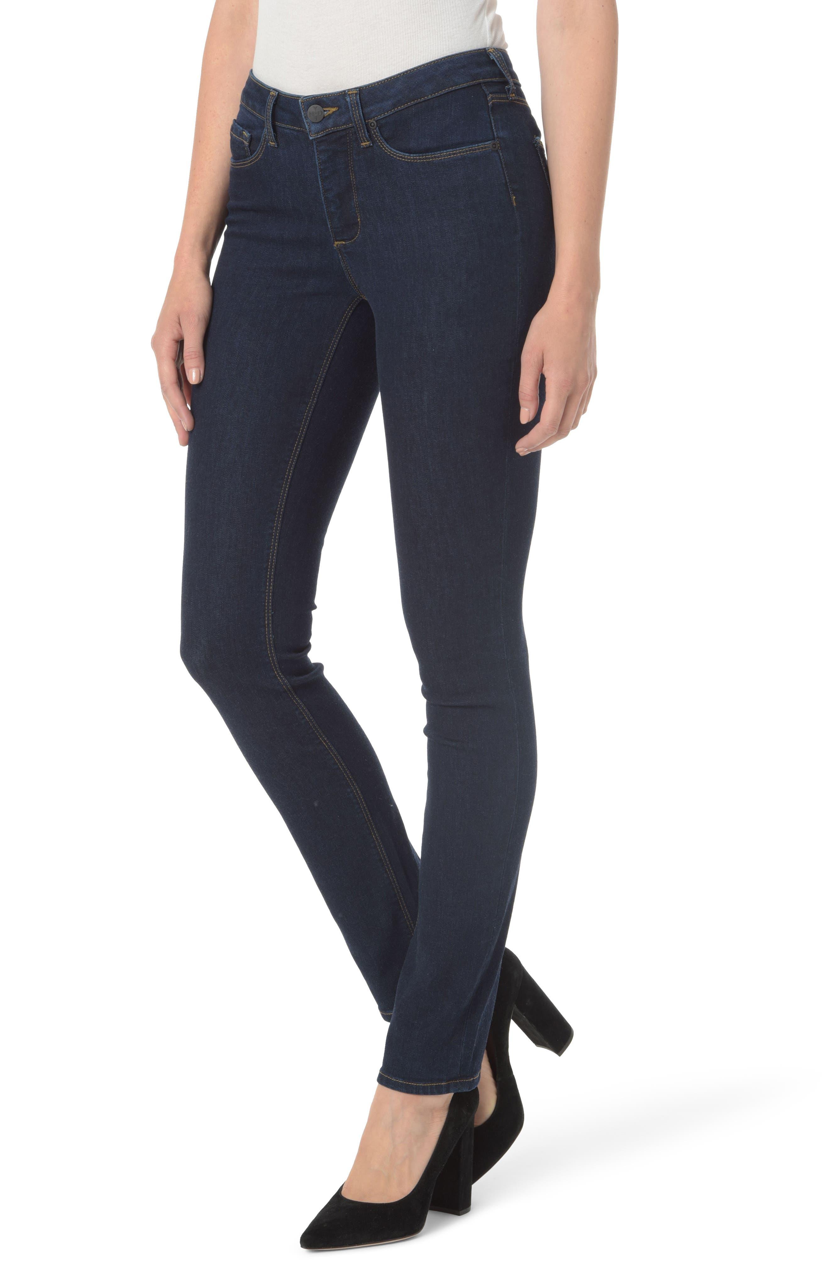 Parker High Waist Stretch Slim Leg Jeans,                             Main thumbnail 1, color,                             408
