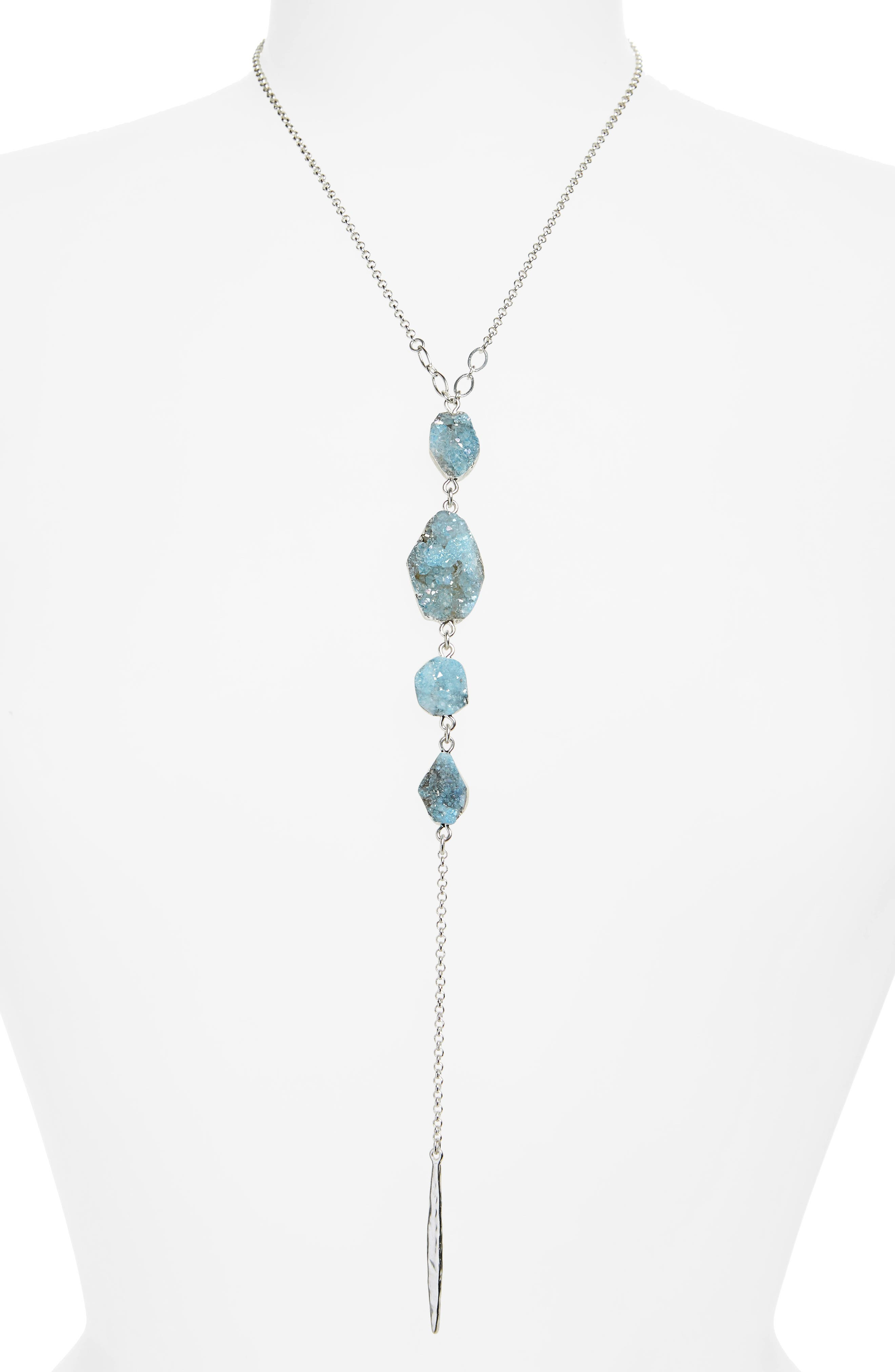 Drusy Chain Y-Necklace,                             Main thumbnail 2, color,