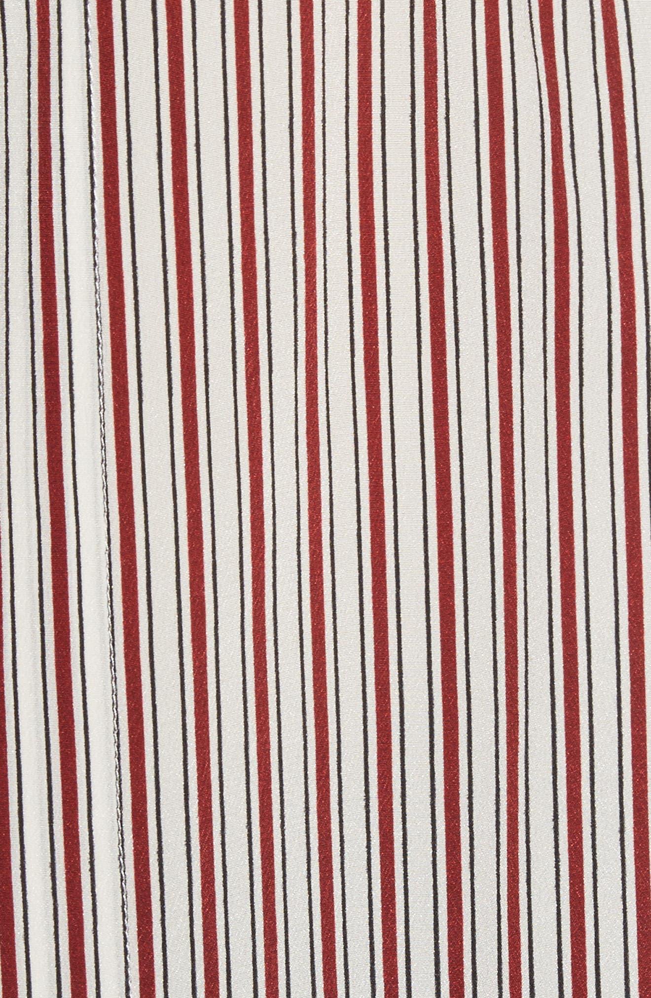 Lace Inset Stripe Blouse,                             Alternate thumbnail 5, color,