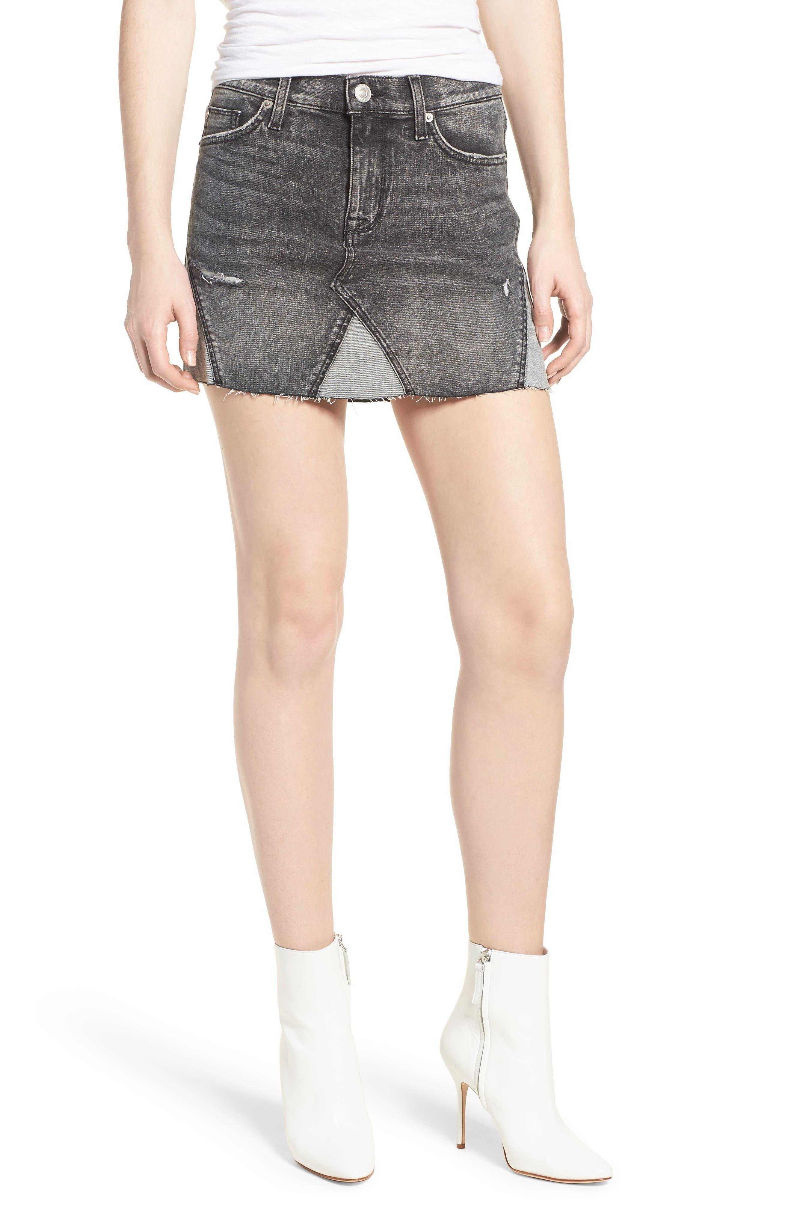 The Viper Cutoff Denim Miniskirt,                         Main,                         color, OLD SCHOOL