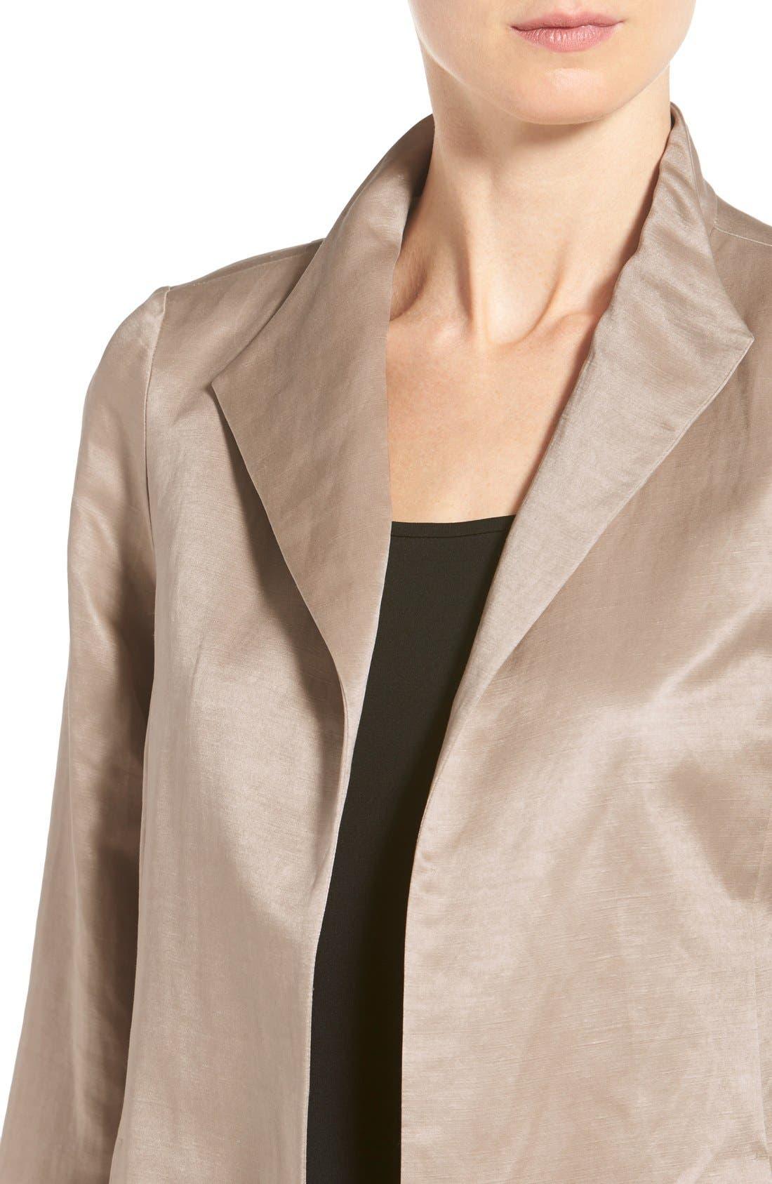 High Collar Long Jacket,                             Alternate thumbnail 10, color,