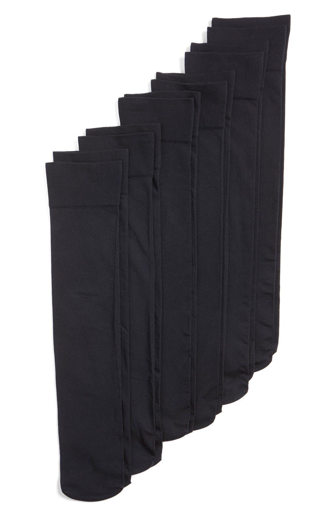 6-Pack Opaque Trouser Socks,                             Main thumbnail 1, color,                             BLACK
