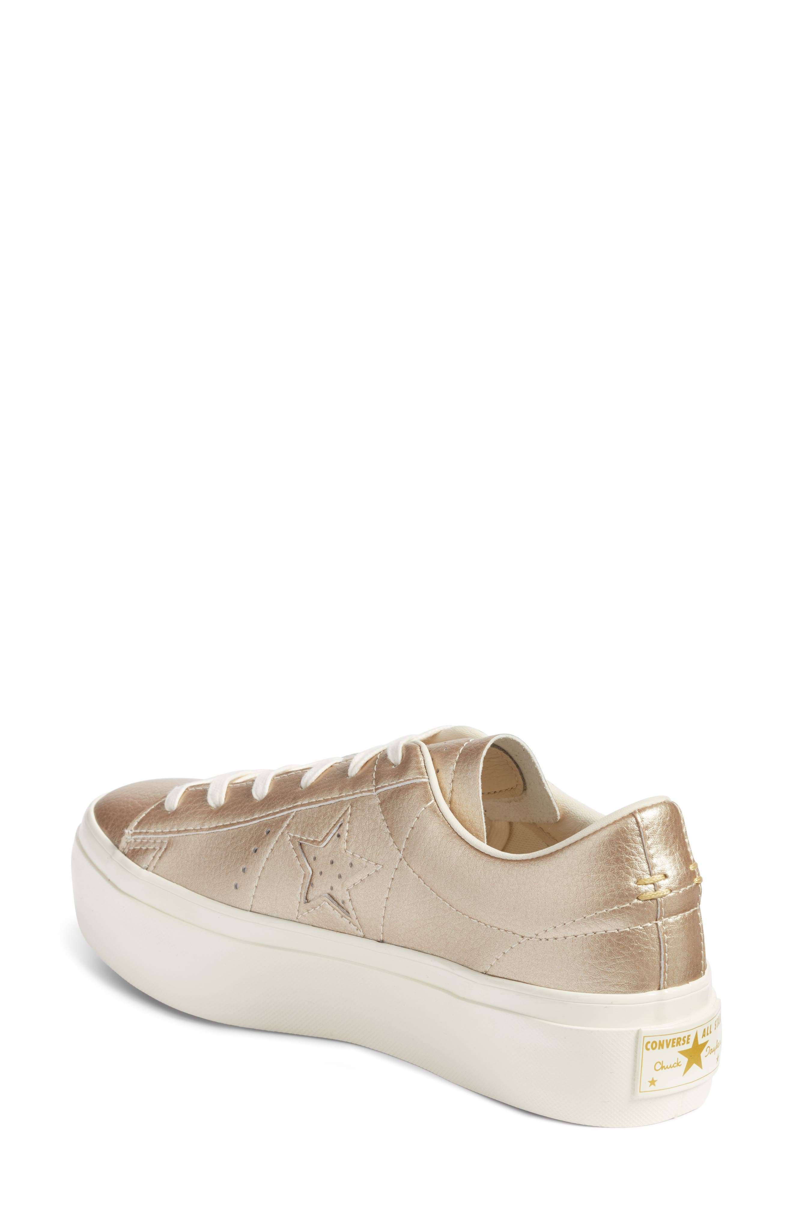 Chuck Taylor<sup>®</sup> All Star<sup>®</sup> One Star Metallic Platform Sneaker,                             Alternate thumbnail 2, color,