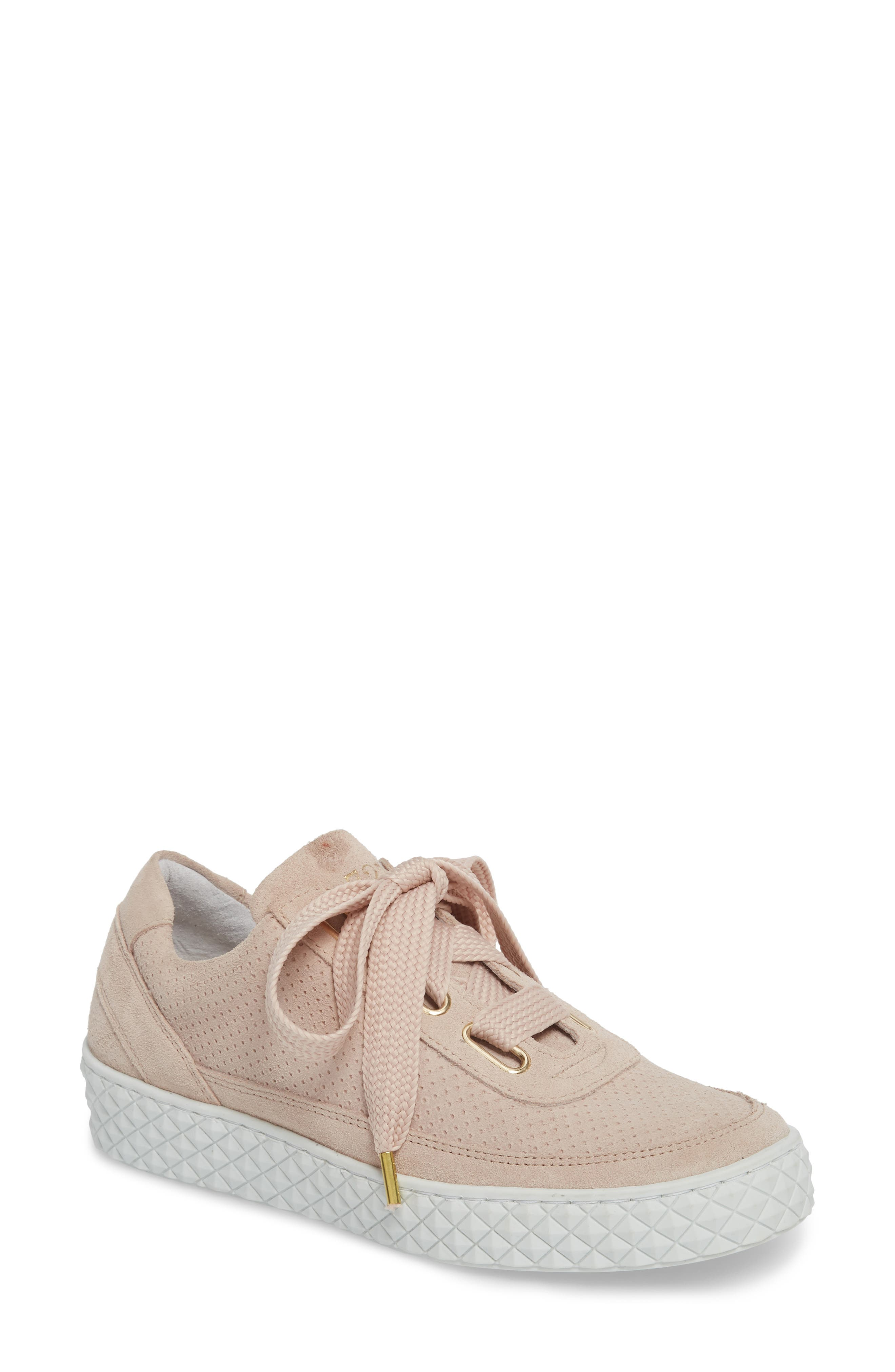 Montreal II Sneaker,                             Main thumbnail 1, color,                             NUDE SUEDE