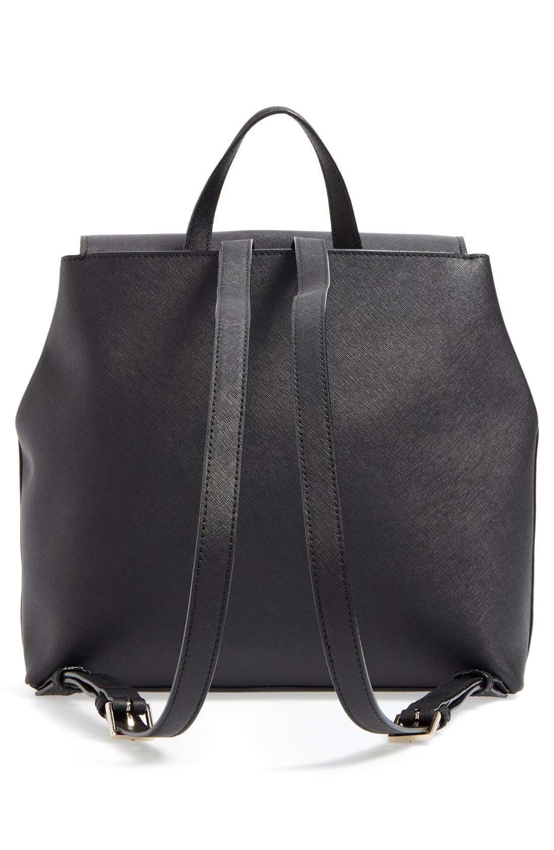 'cameron street - neema' leather backpack,                             Alternate thumbnail 4, color,                             001