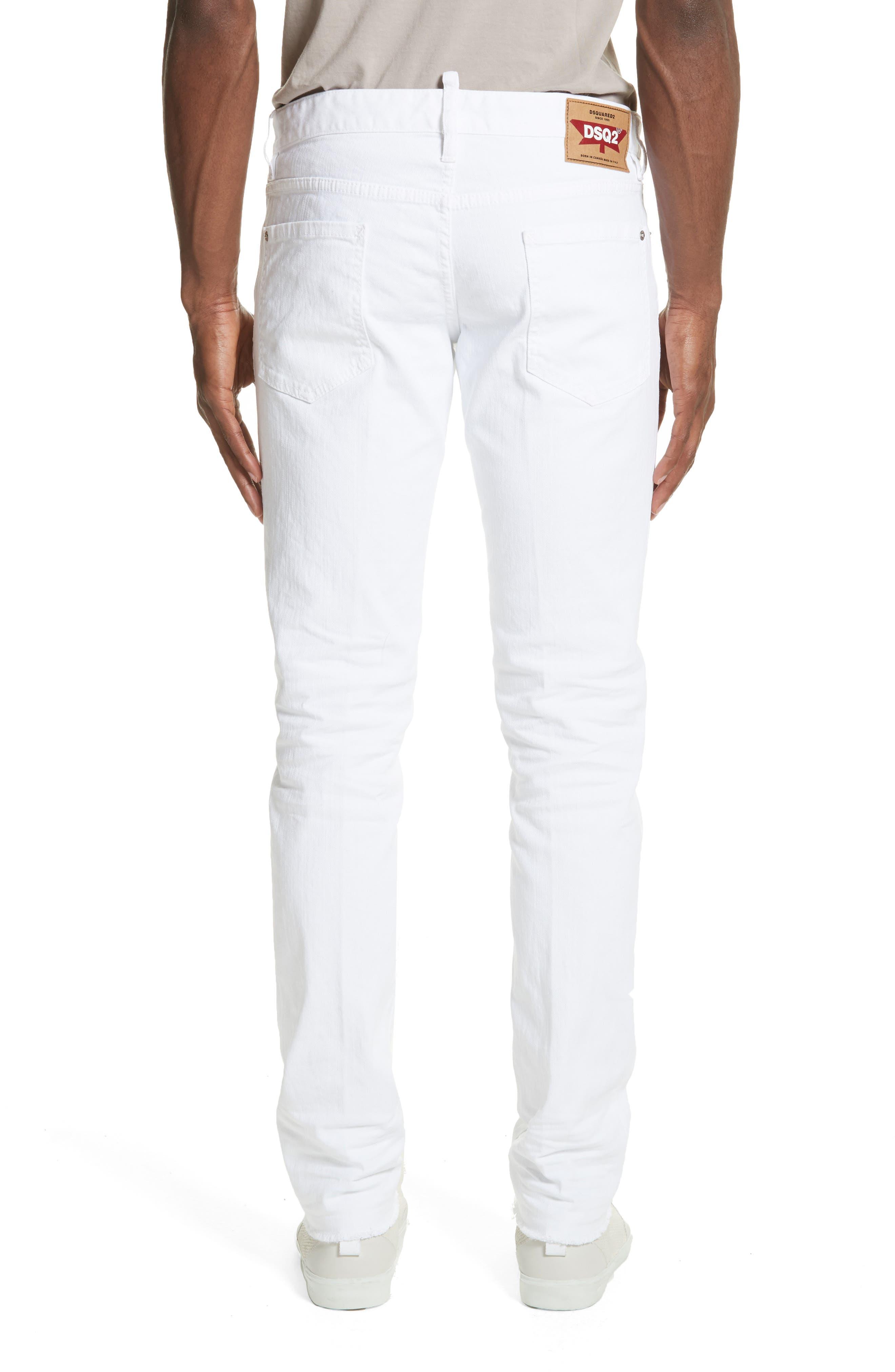 Slim Fit Jeans,                             Alternate thumbnail 2, color,                             WHITE