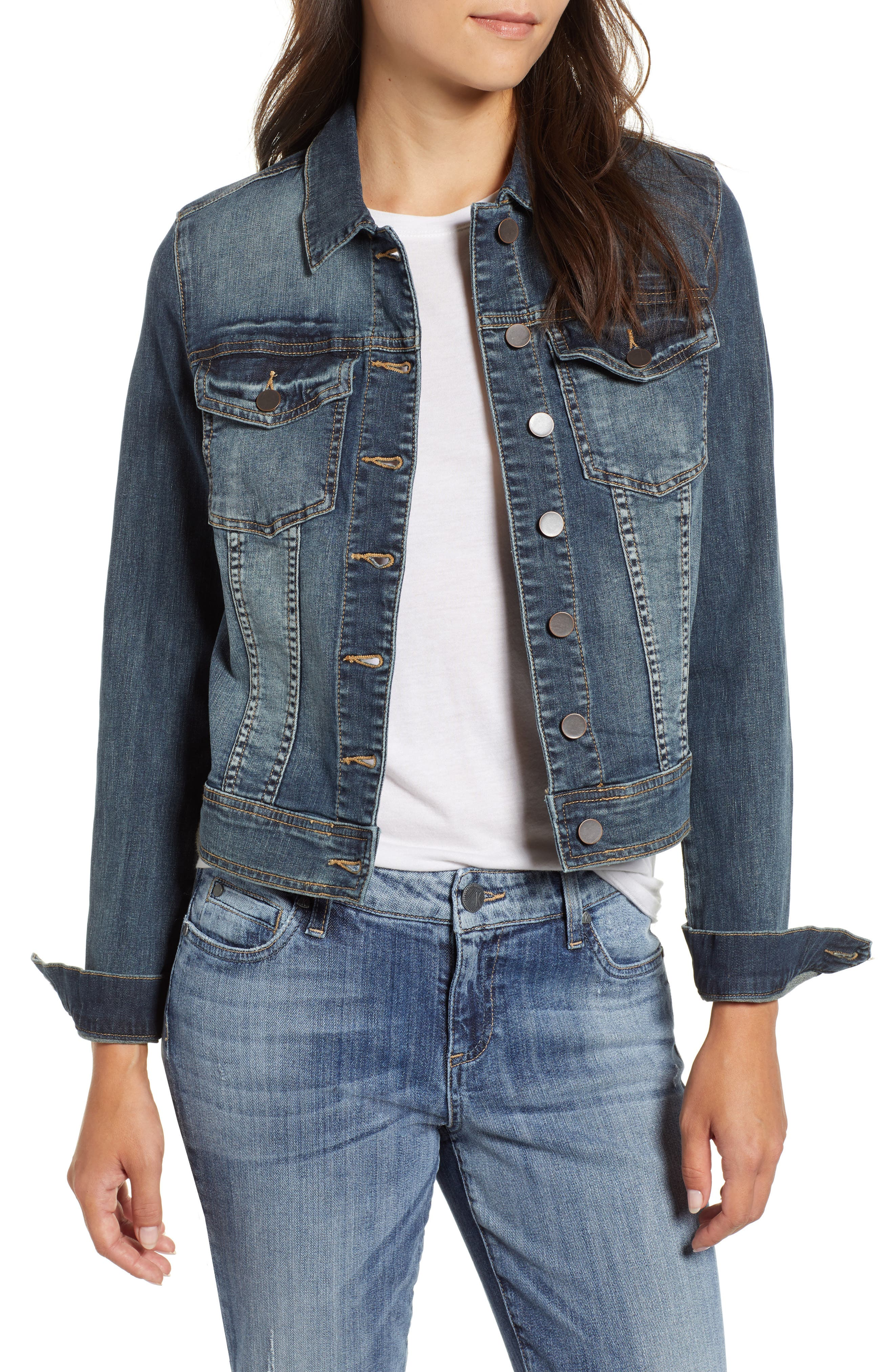 Helena Denim Jacket,                             Main thumbnail 1, color,                             477