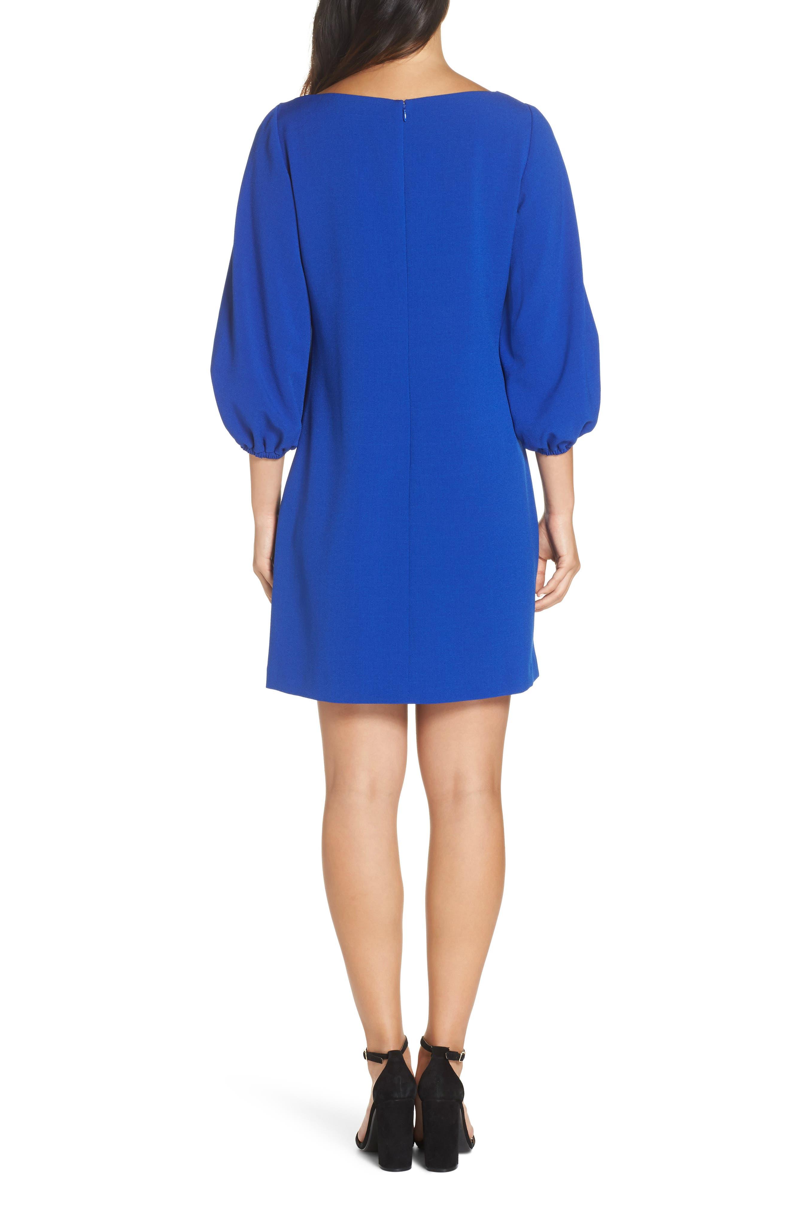 Bloused Sleeve Shift Dress,                             Alternate thumbnail 6, color,