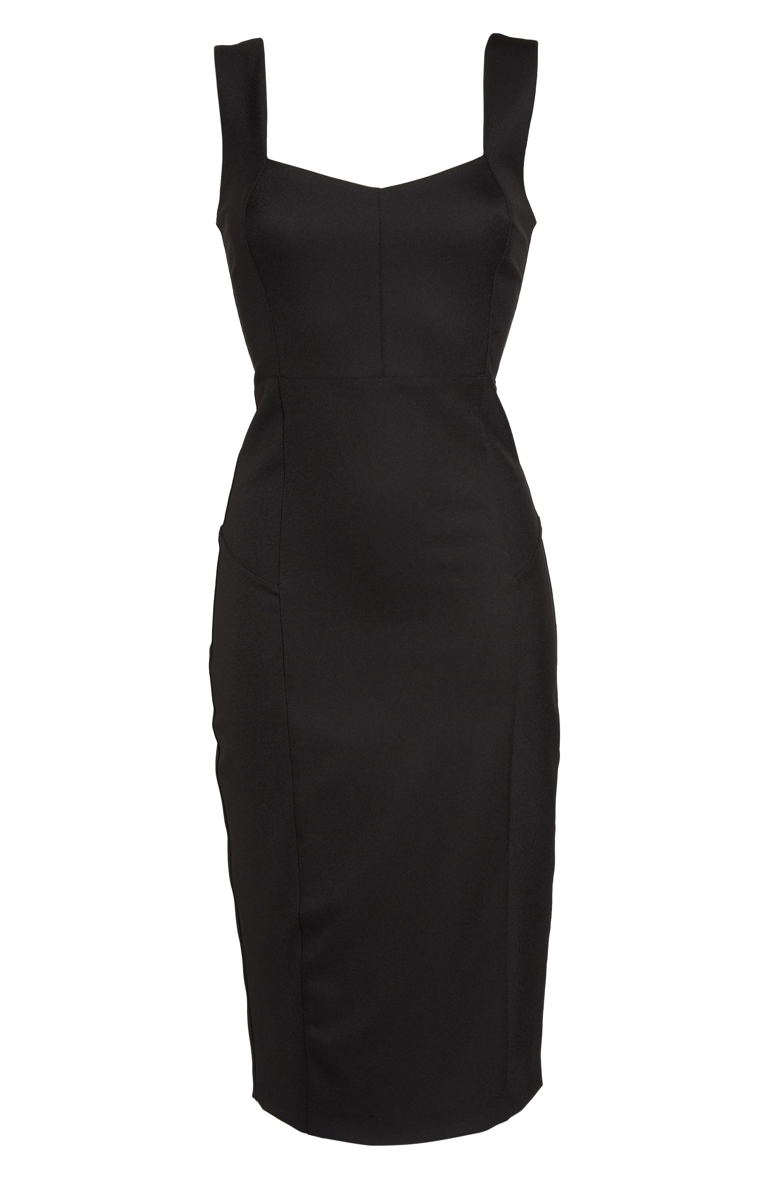 FELICITY & COCO,                             Mirren Midi Body-Con Dress,                             Alternate thumbnail 6, color,                             001