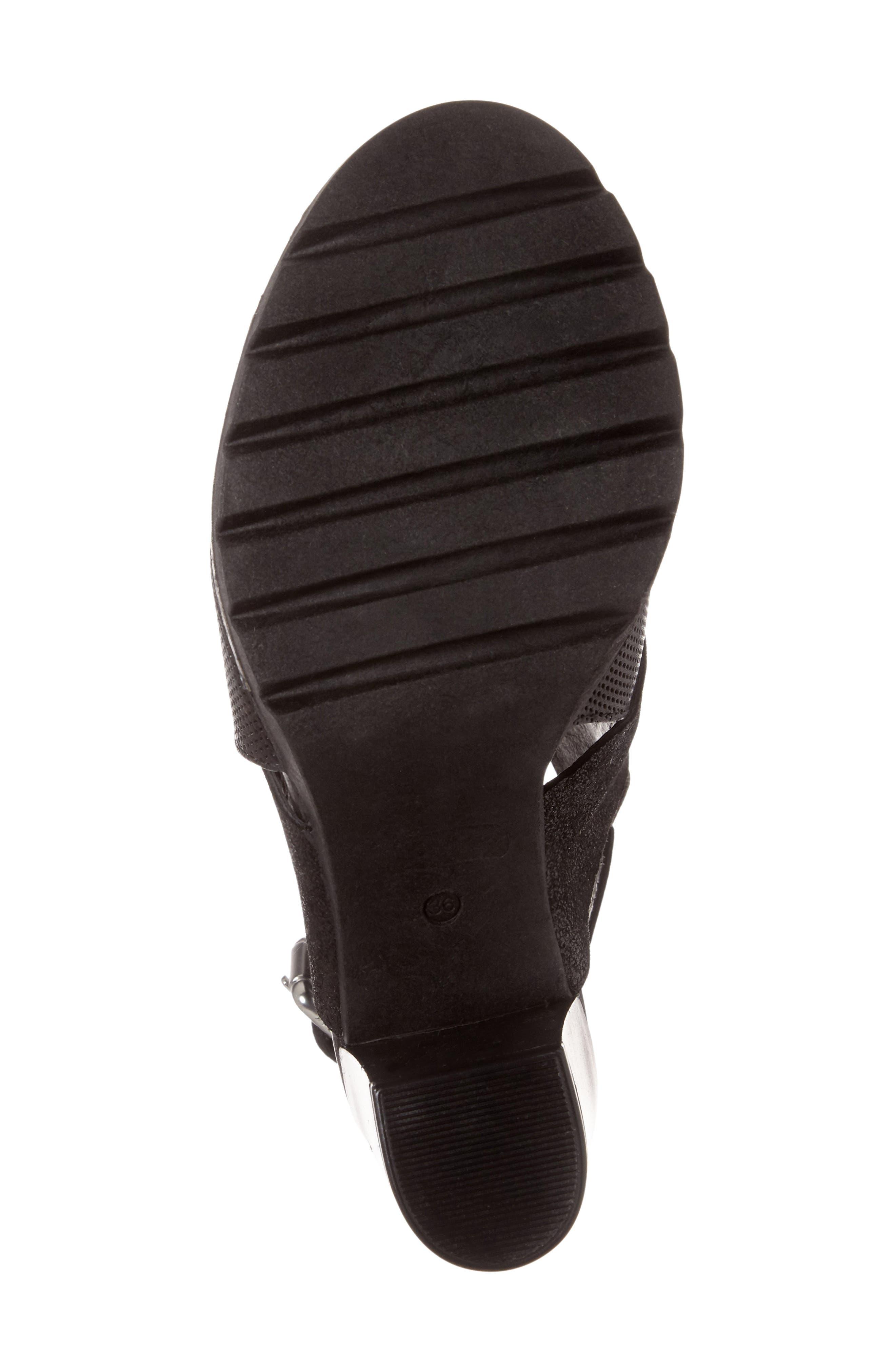 Brittni Block Heel Sandal,                             Alternate thumbnail 6, color,                             001