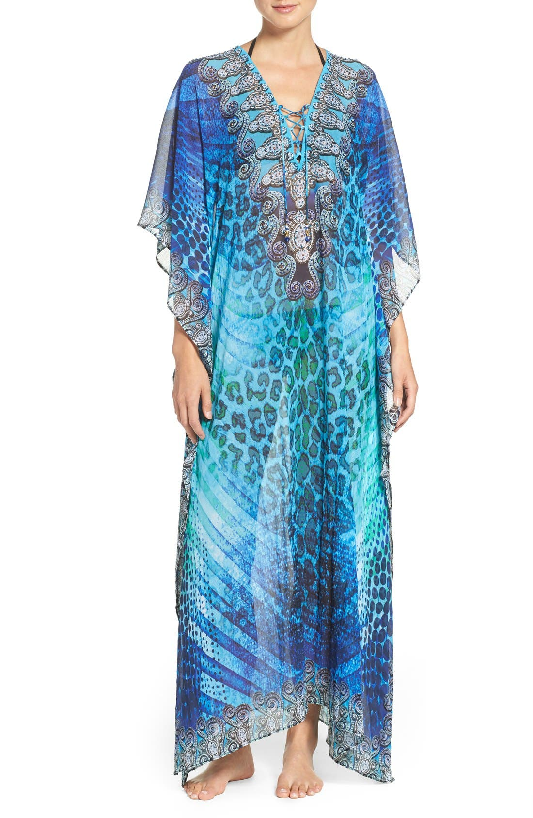 'Santorini' Long Kaftan,                         Main,                         color, 400