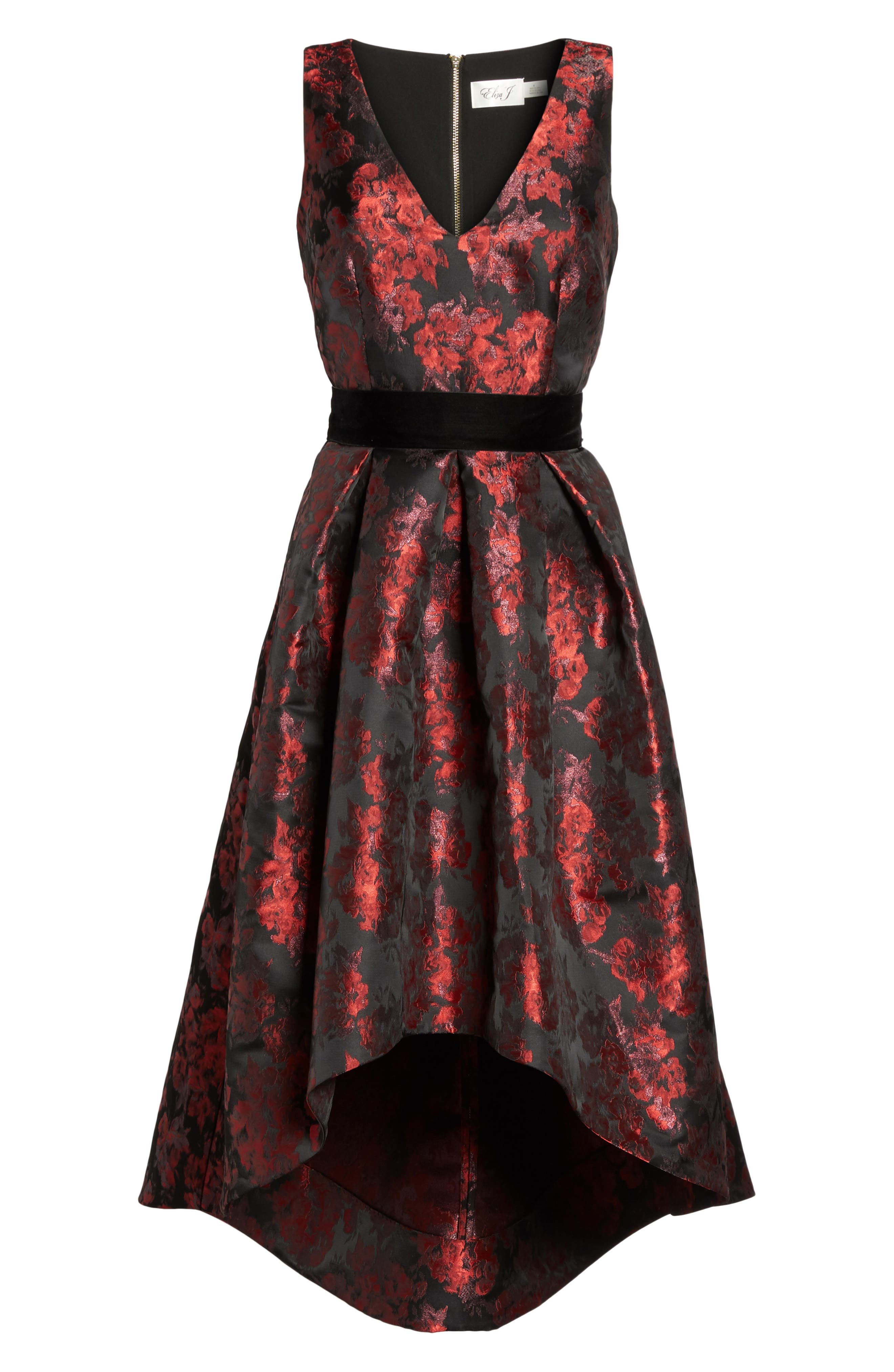 Jacquard High/Low Dress,                             Alternate thumbnail 6, color,