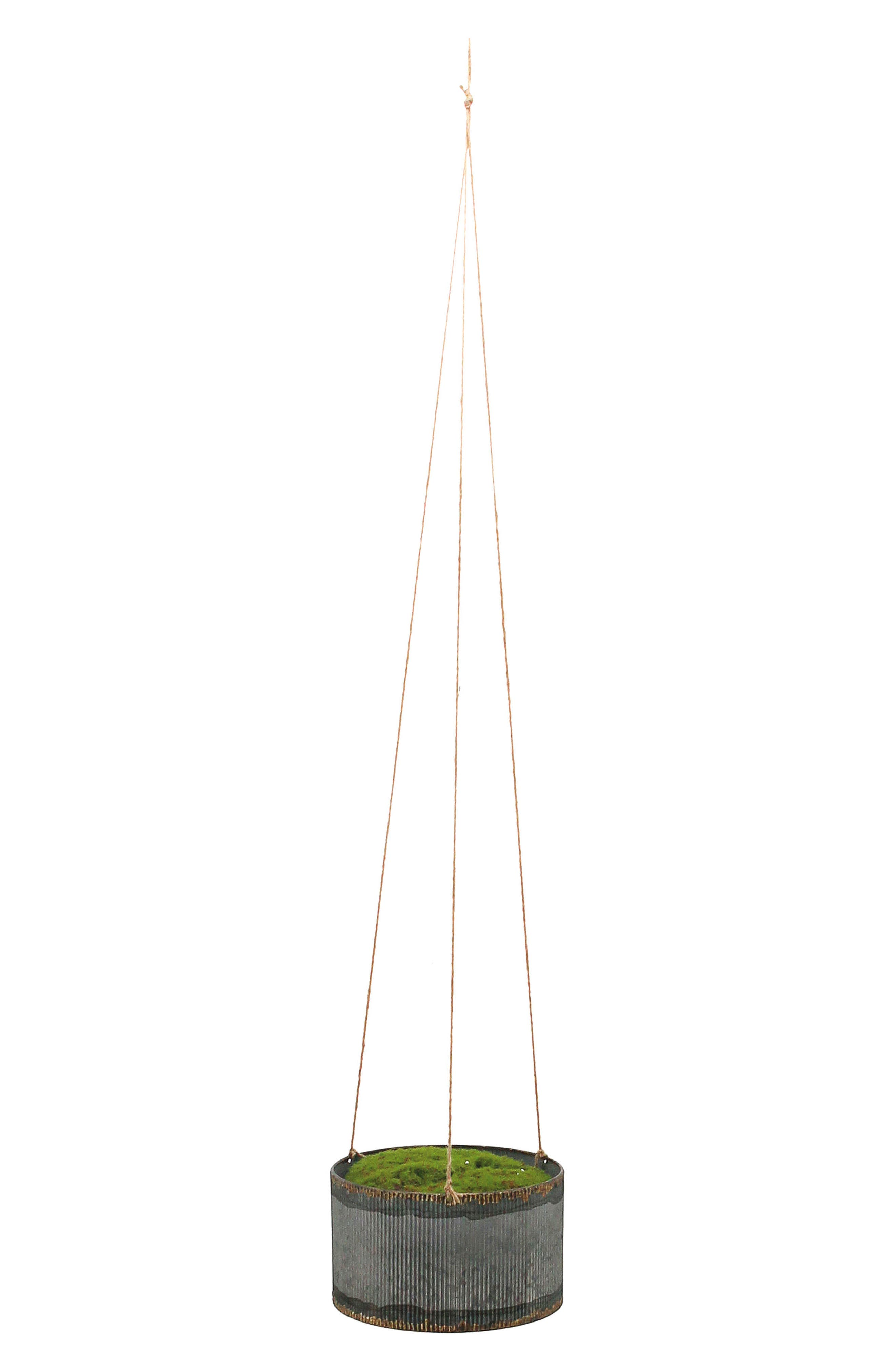 Drummond Small Hanging Planter,                             Main thumbnail 1, color,                             METAL/ TWINE