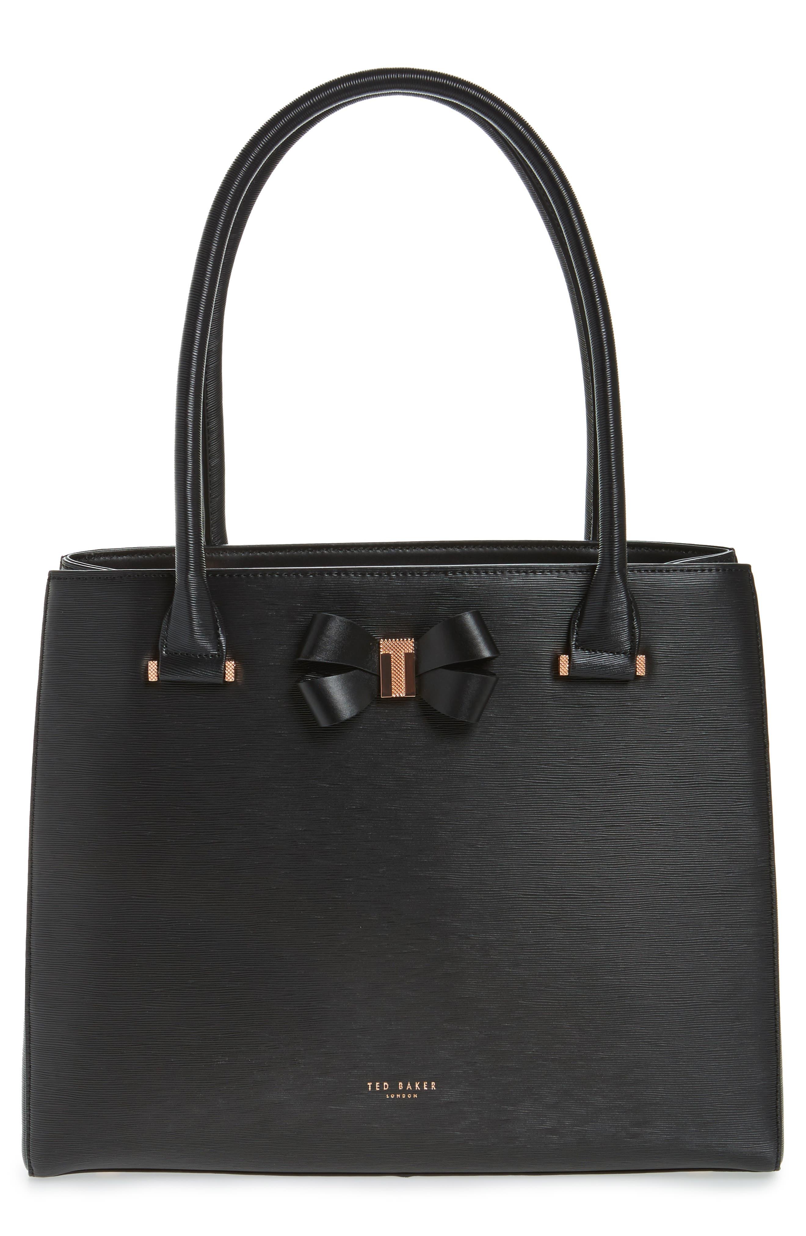 Callaa Bow Leather Shopper,                         Main,                         color,