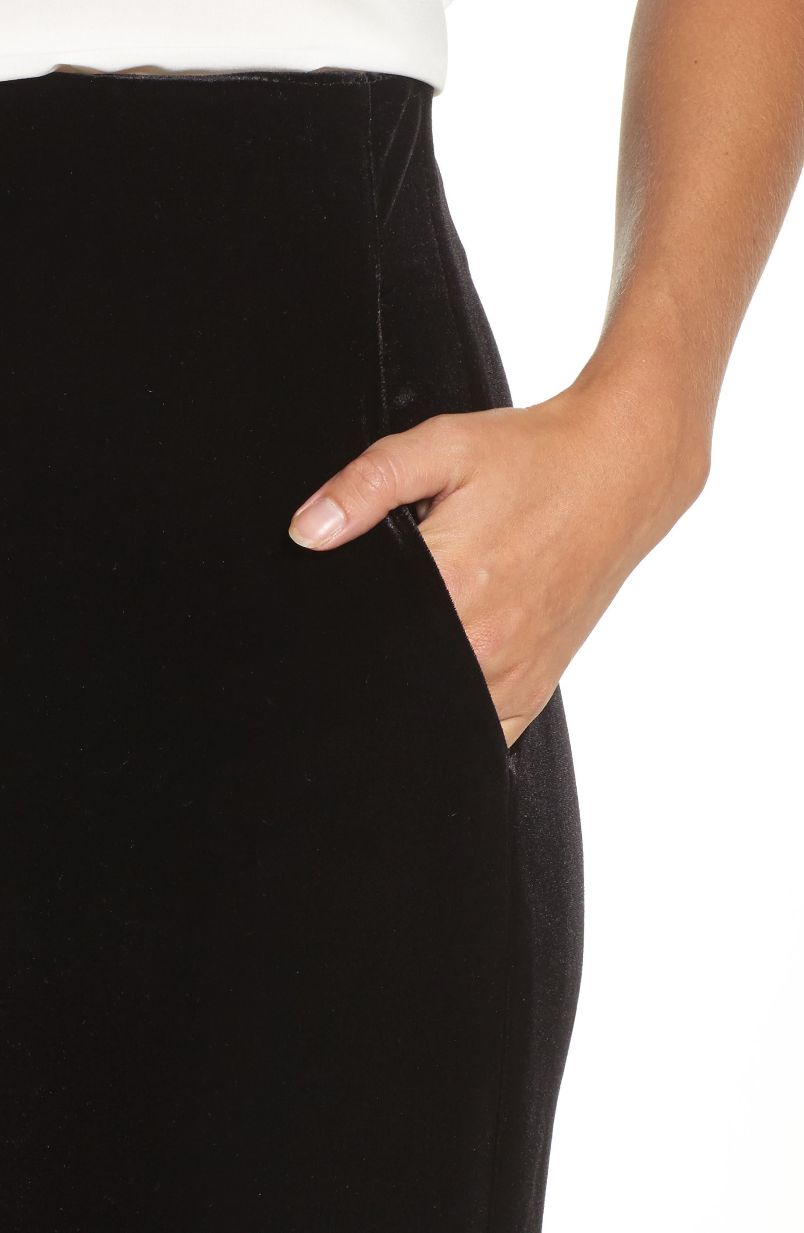 Velvet Trousers,                             Alternate thumbnail 4, color,