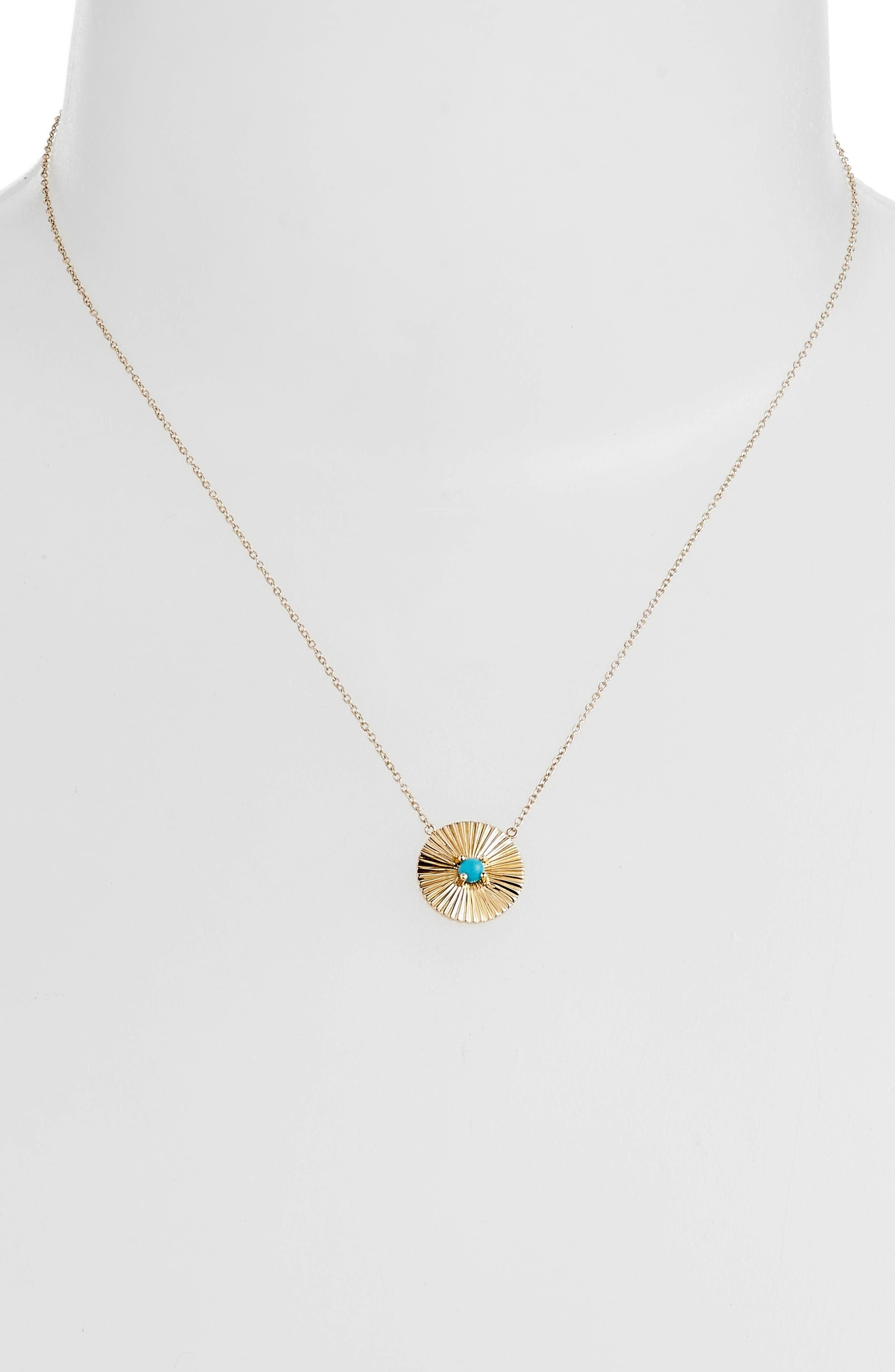 Iris Carson Turquoise Pendant Necklace,                             Alternate thumbnail 2, color,                             YELLOW VERMEIL